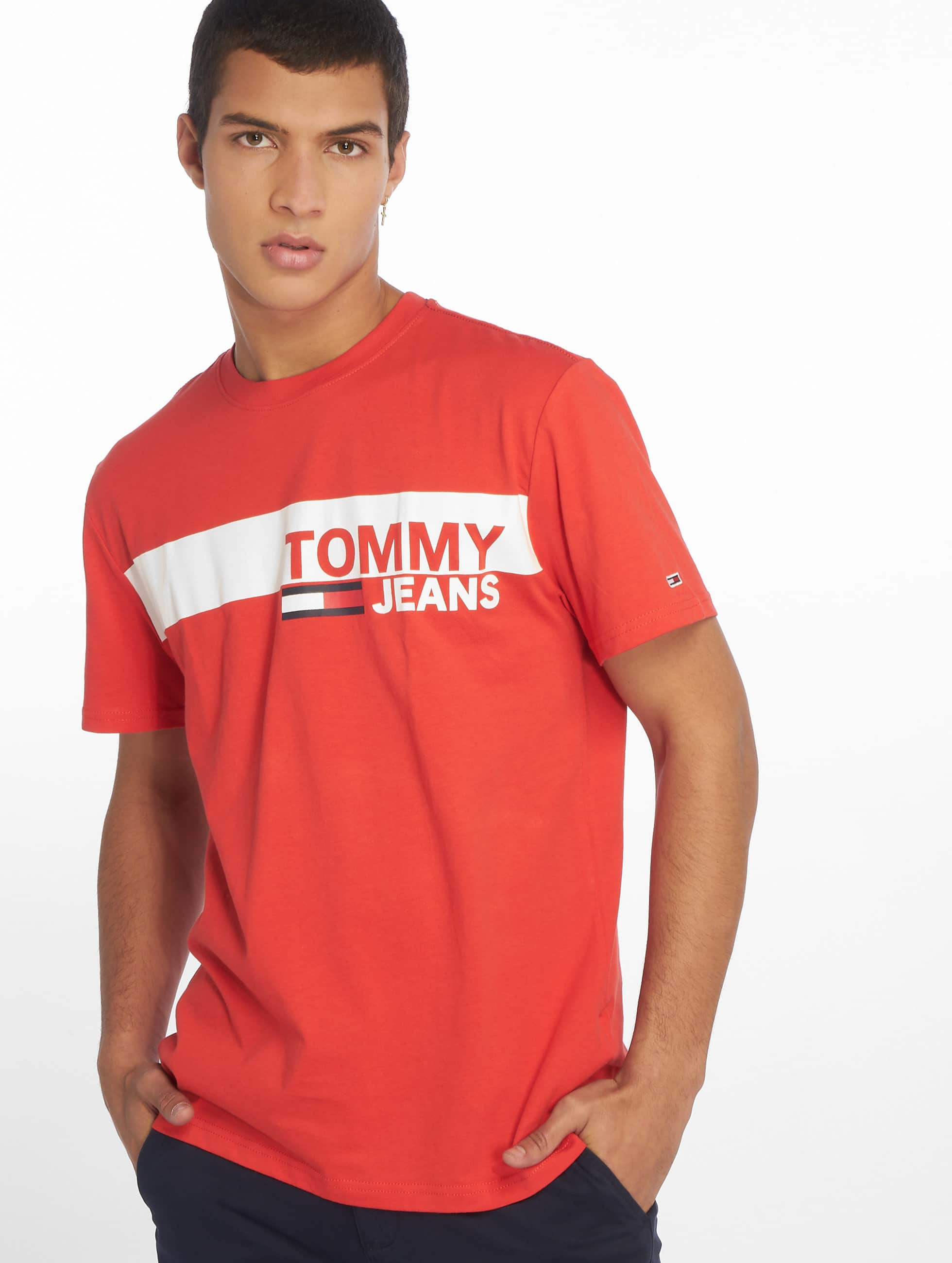 85b56bb4ab Tommy Jeans Herren T-Shirt Essential Box Logo in rot 641797