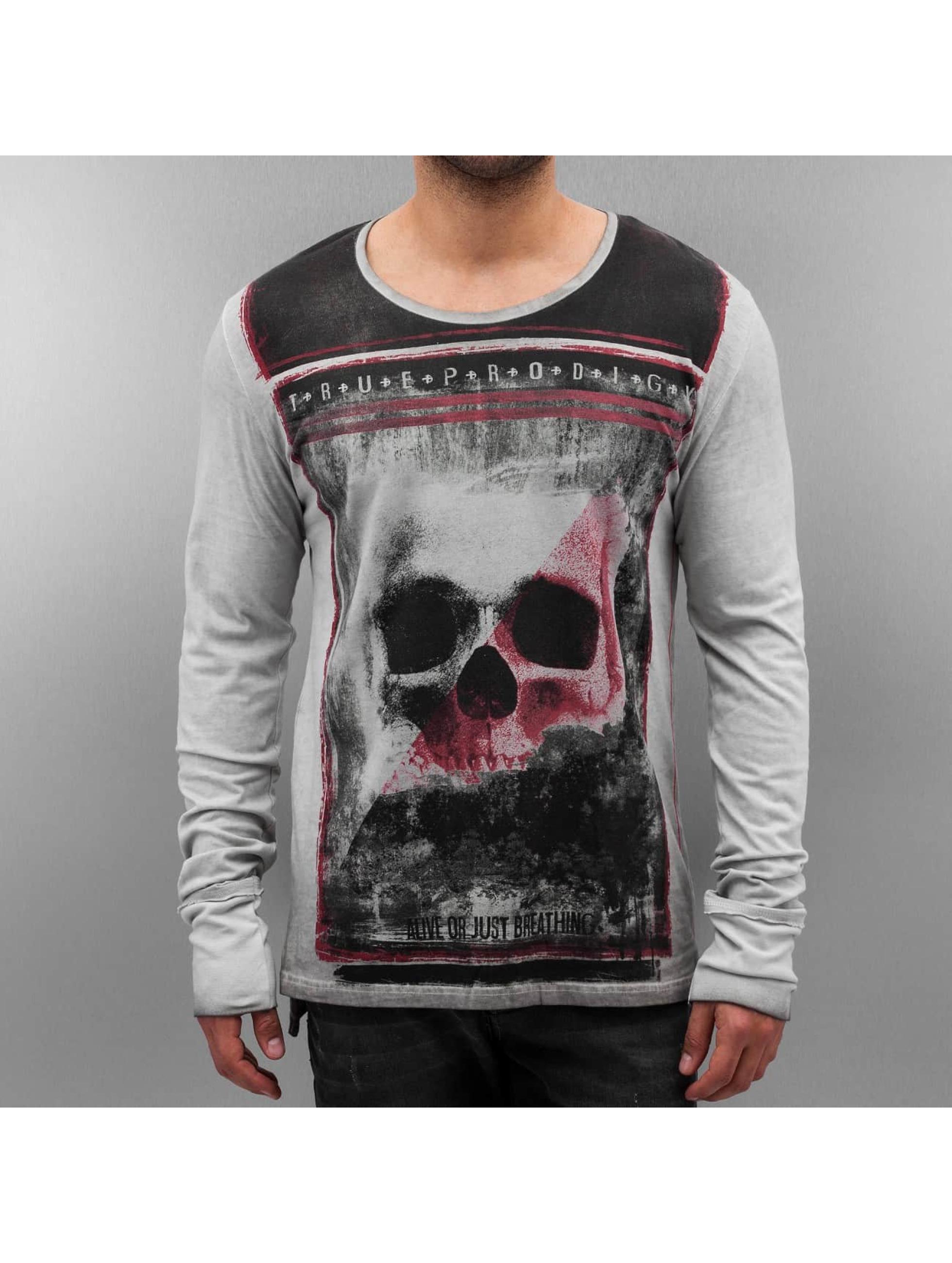 trueprodigy Camiseta de manga larga Skull gris