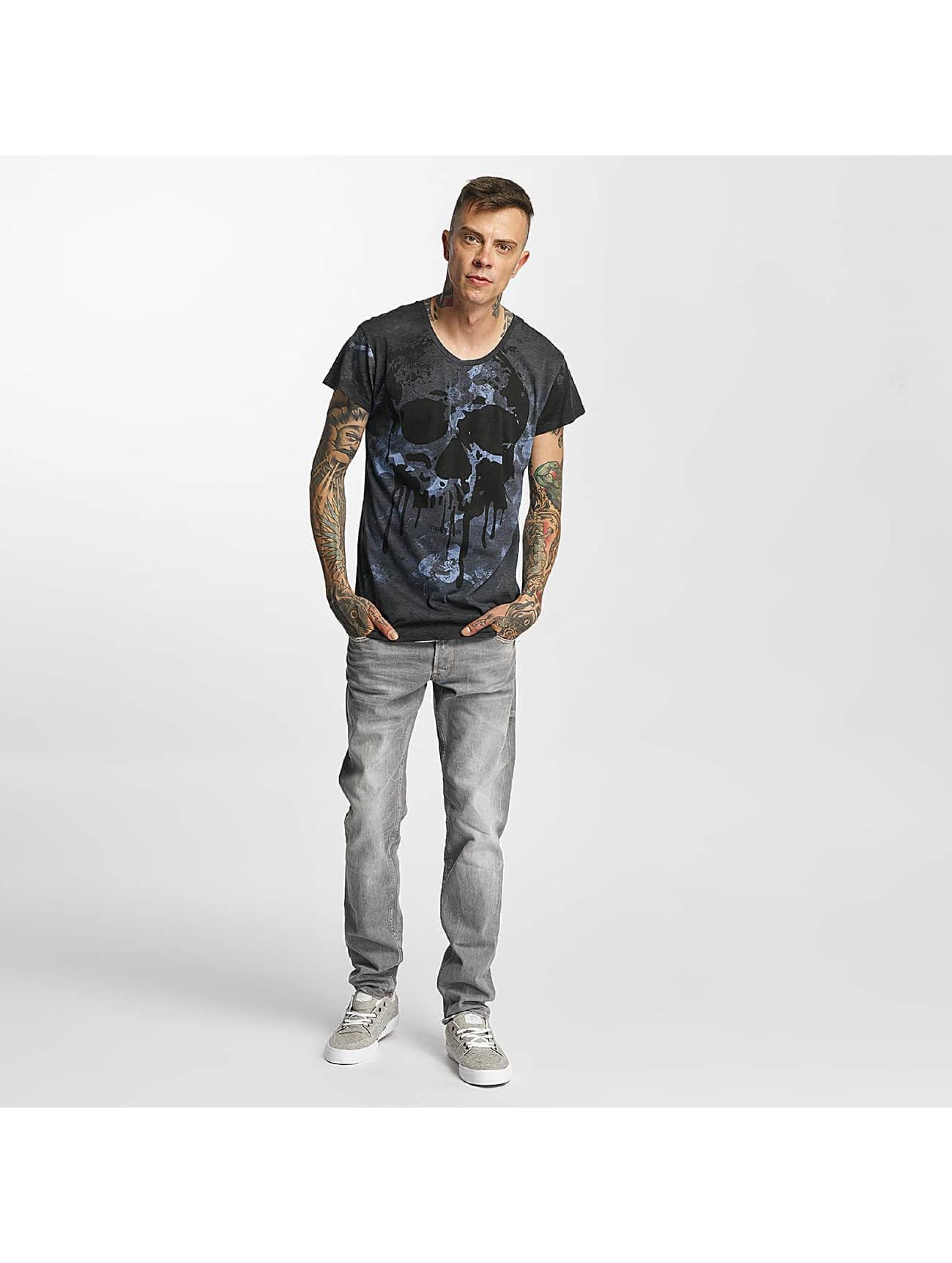 trueprodigy T-Shirt Paint Skull blue