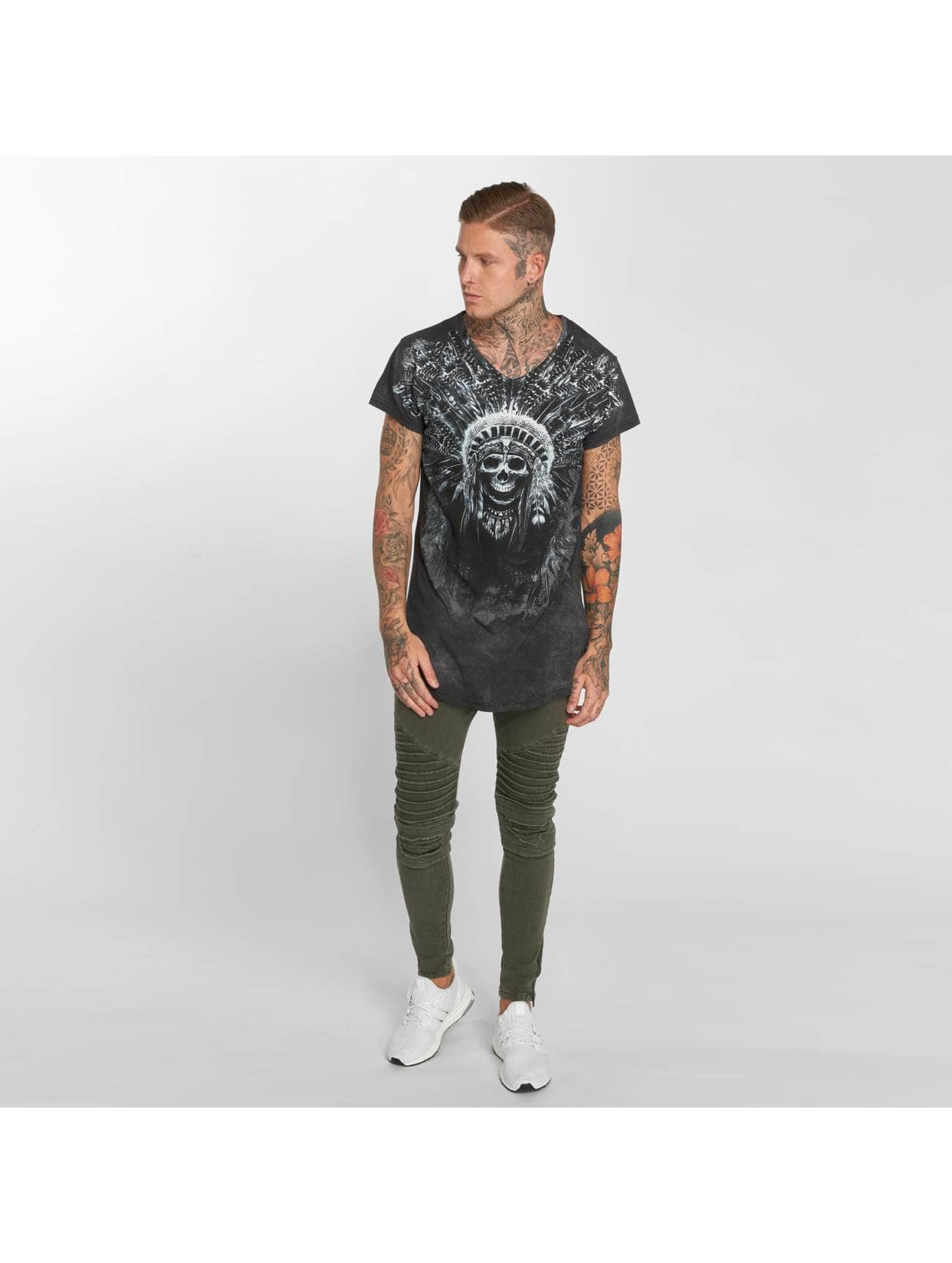 trueprodigy T-Shirt Skull Indian grau