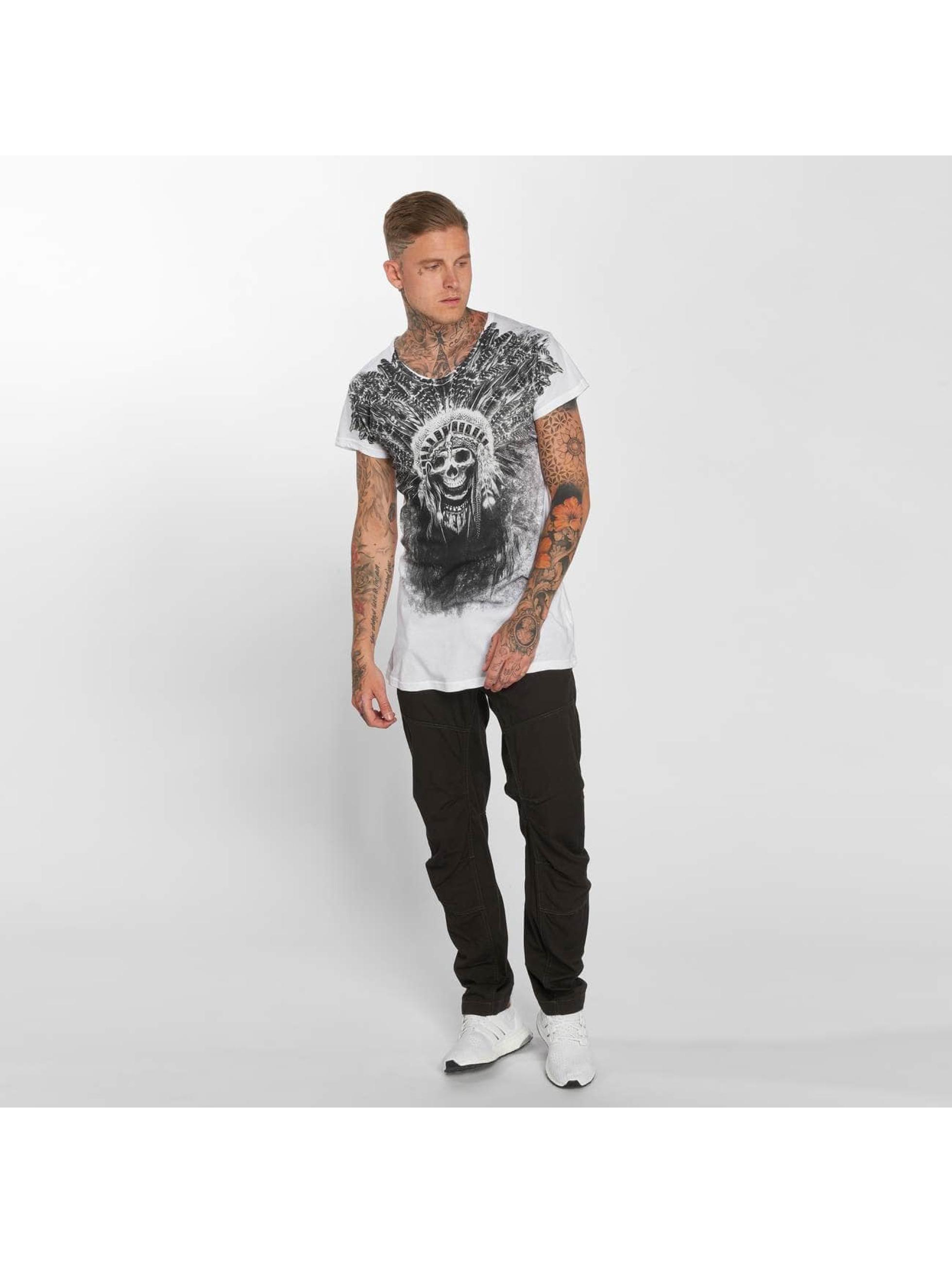 trueprodigy T-Shirt Skull Indian weiß