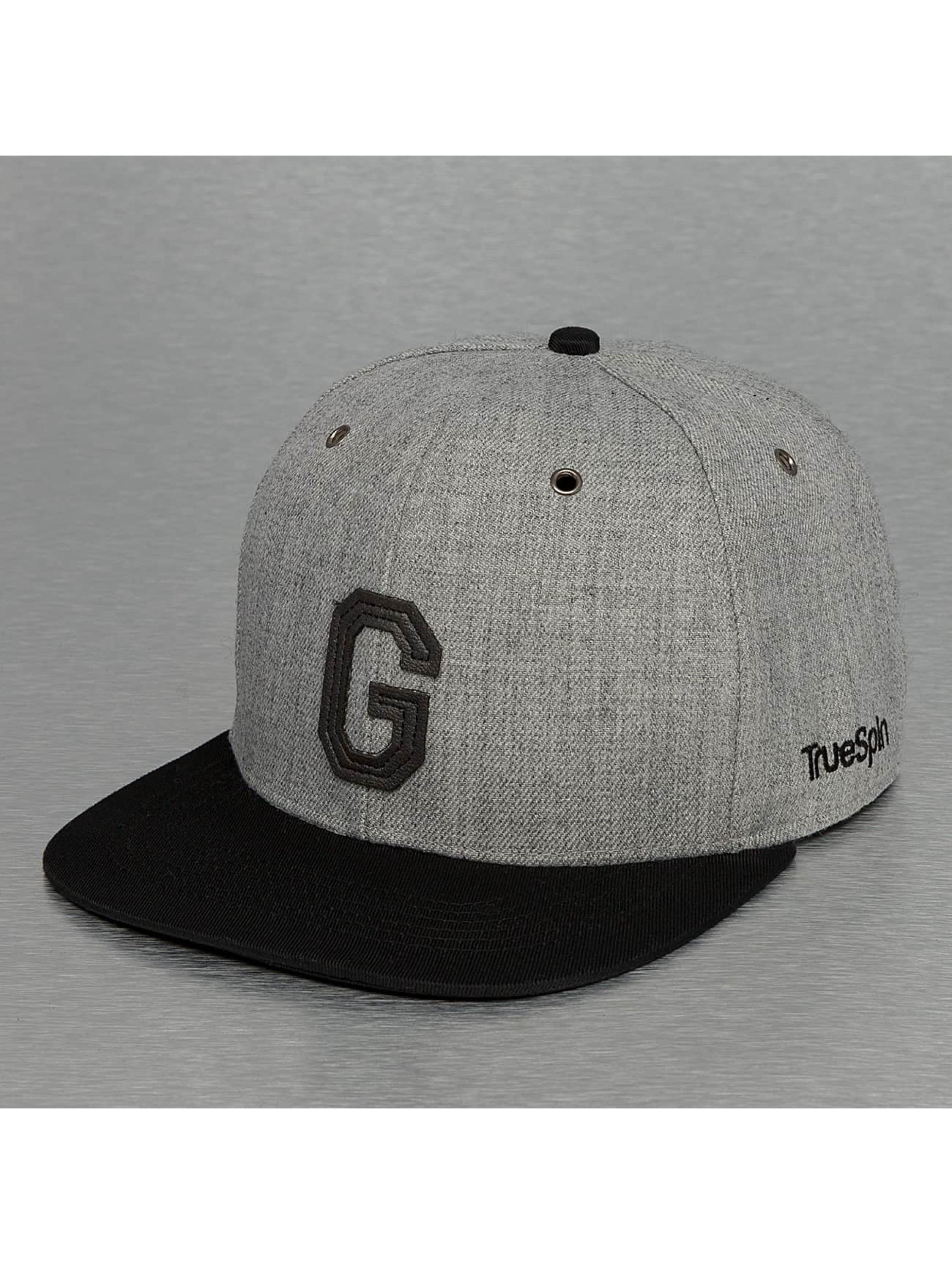 TrueSpin Кепка с застёжкой ABC-G Wool серый