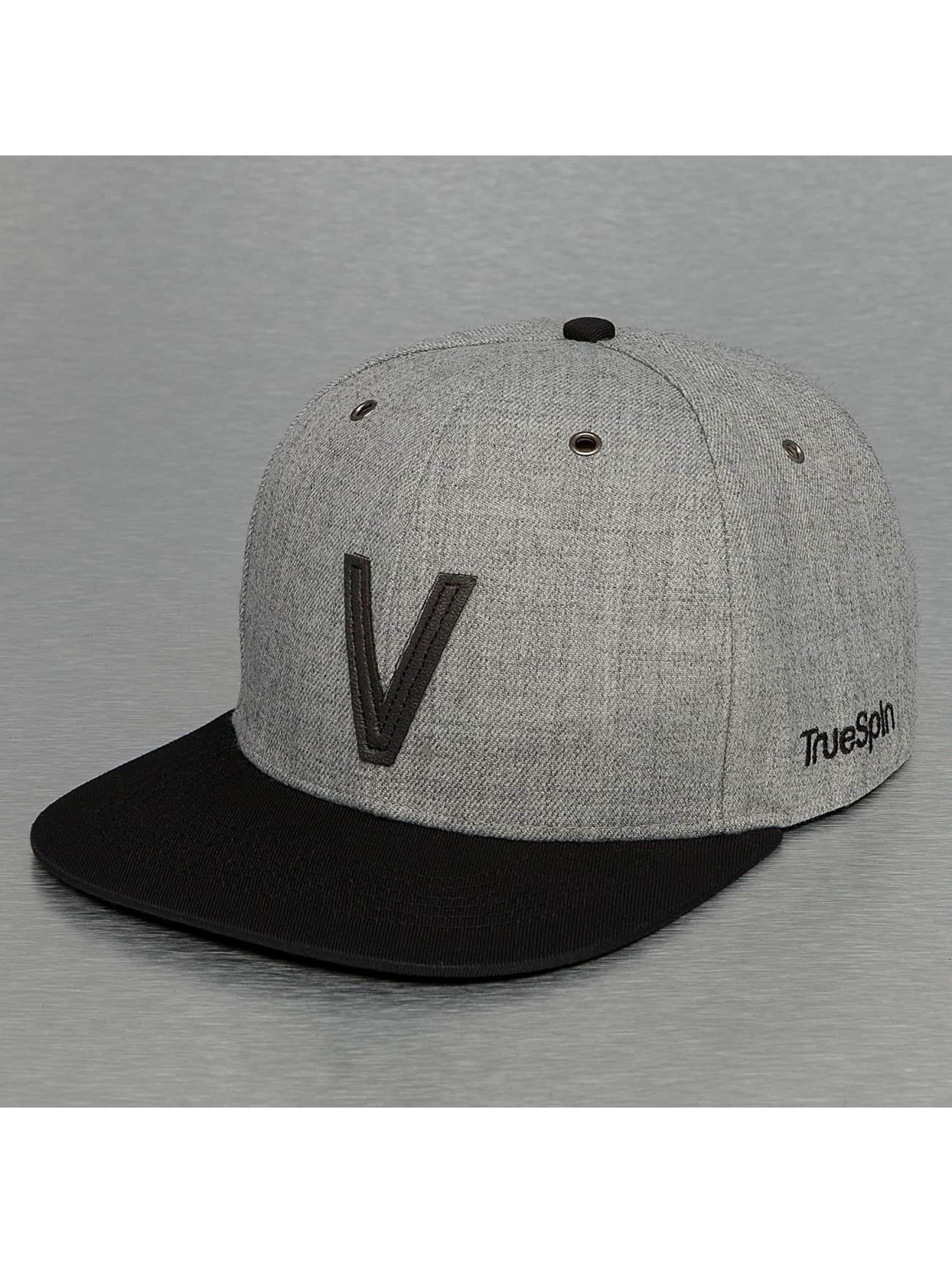 TrueSpin Кепка с застёжкой ABC-V Wool серый