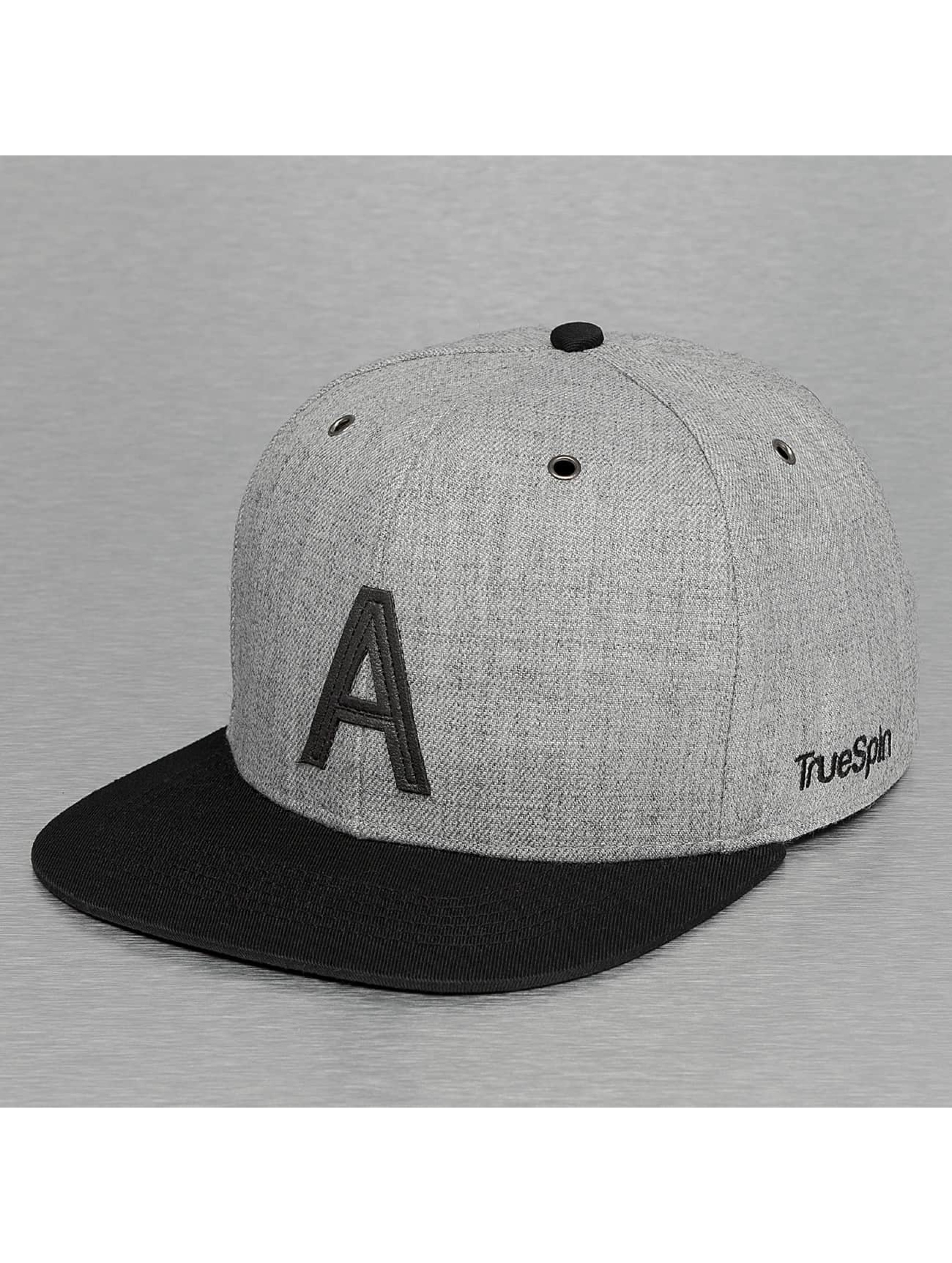 TrueSpin Casquette Snapback & Strapback ABC-A Wool gris