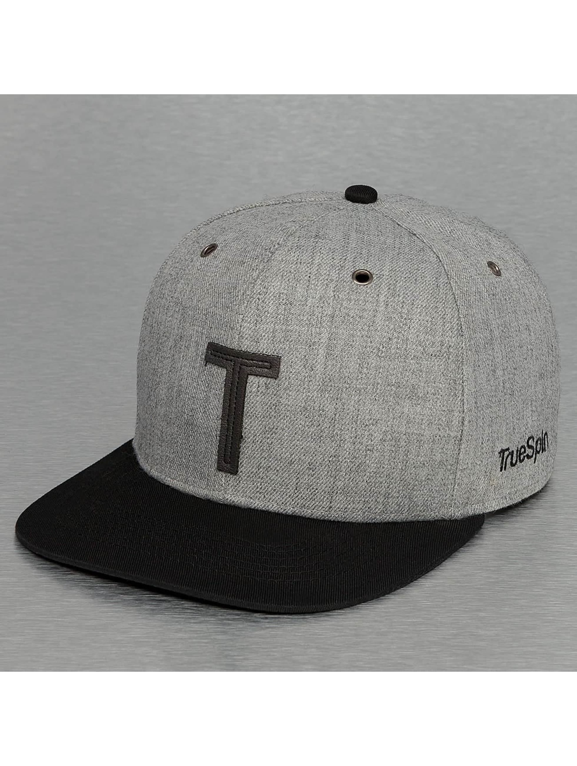 TrueSpin Casquette Snapback & Strapback ABC-T Wool gris