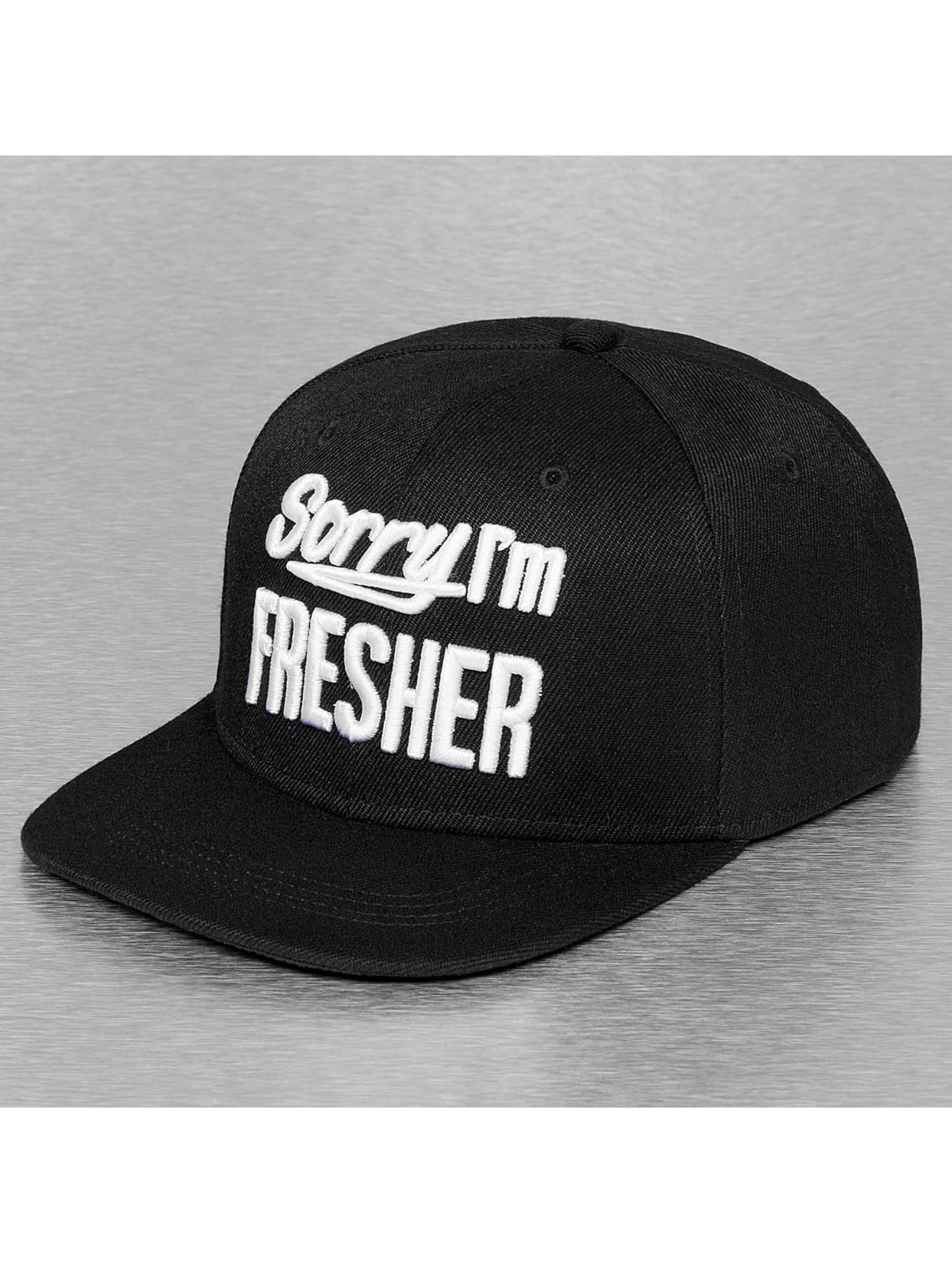TrueSpin Casquette Snapback & Strapback Sorry Im Fresher noir