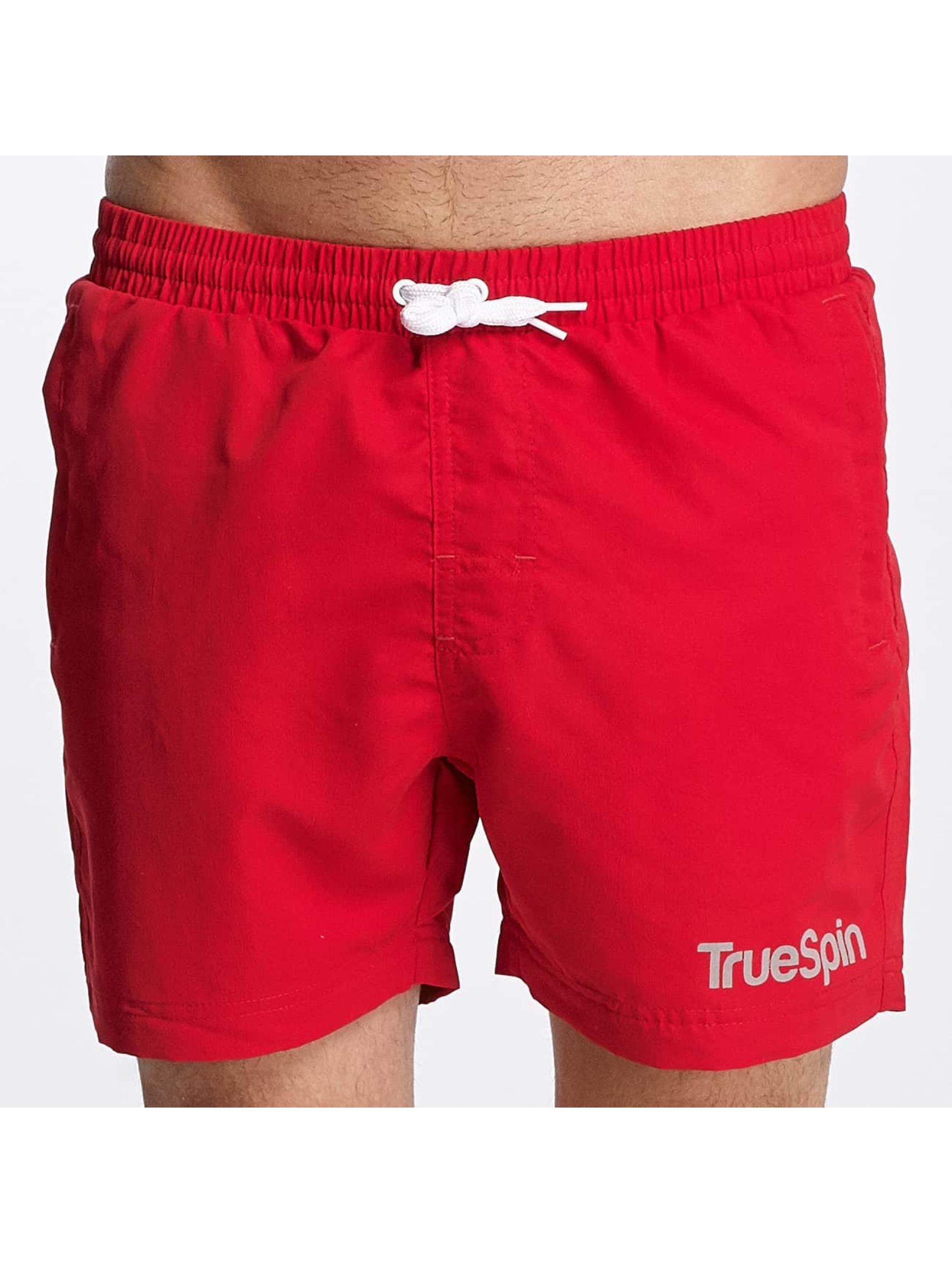 TrueSpin Kúpacie šortky Swimming èervená