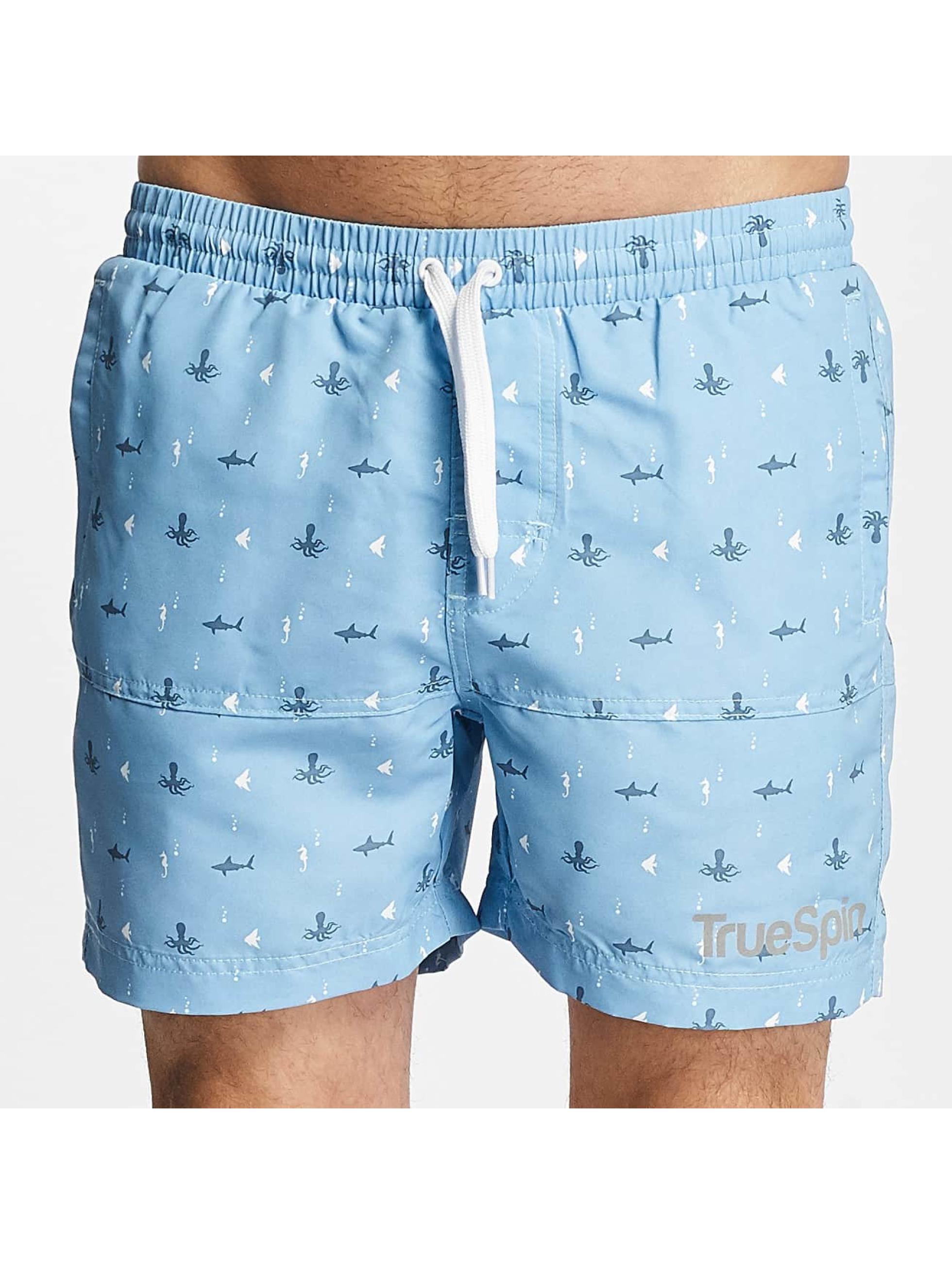 TrueSpin Kąpielówki Underwater Print niebieski