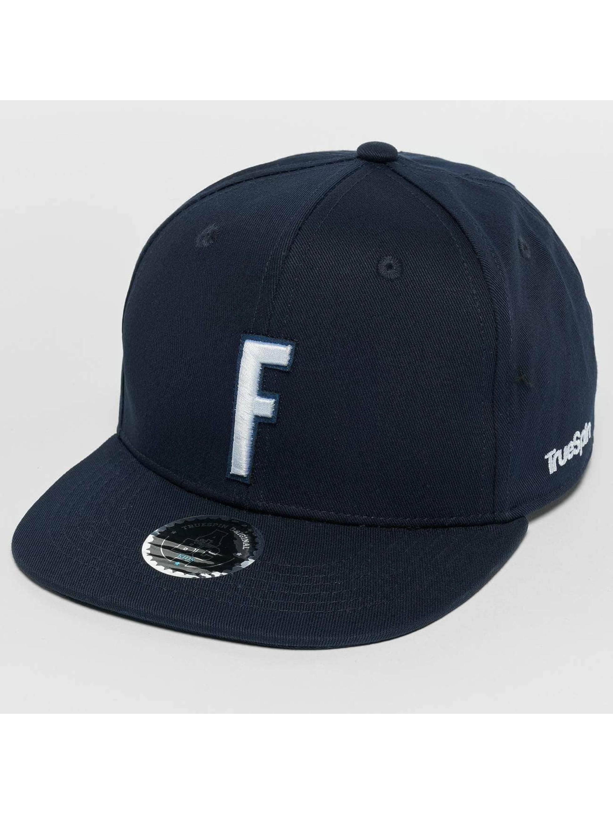 TrueSpin snapback cap Kids ABC F blauw