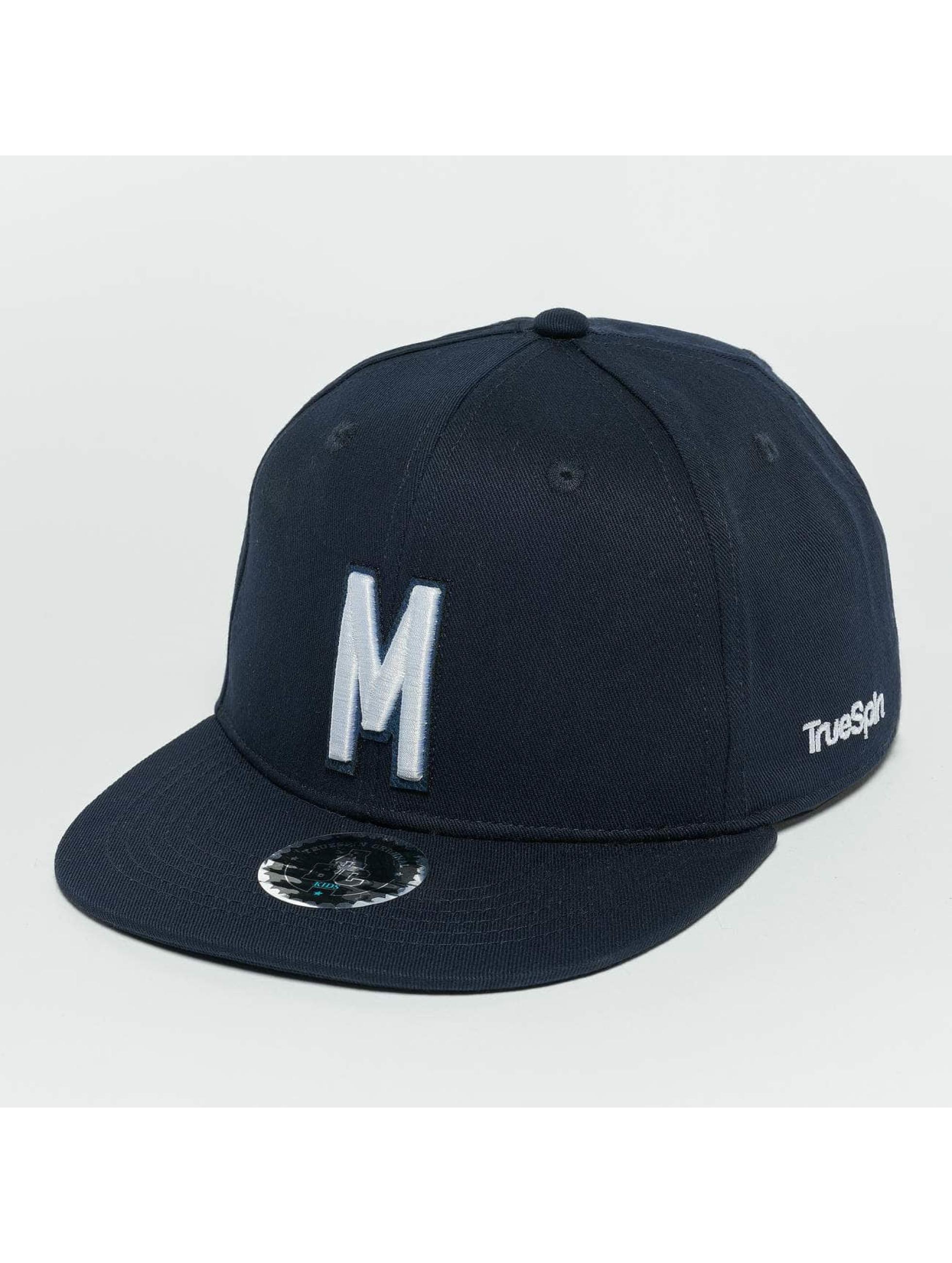 TrueSpin snapback cap Kids ABC M blauw