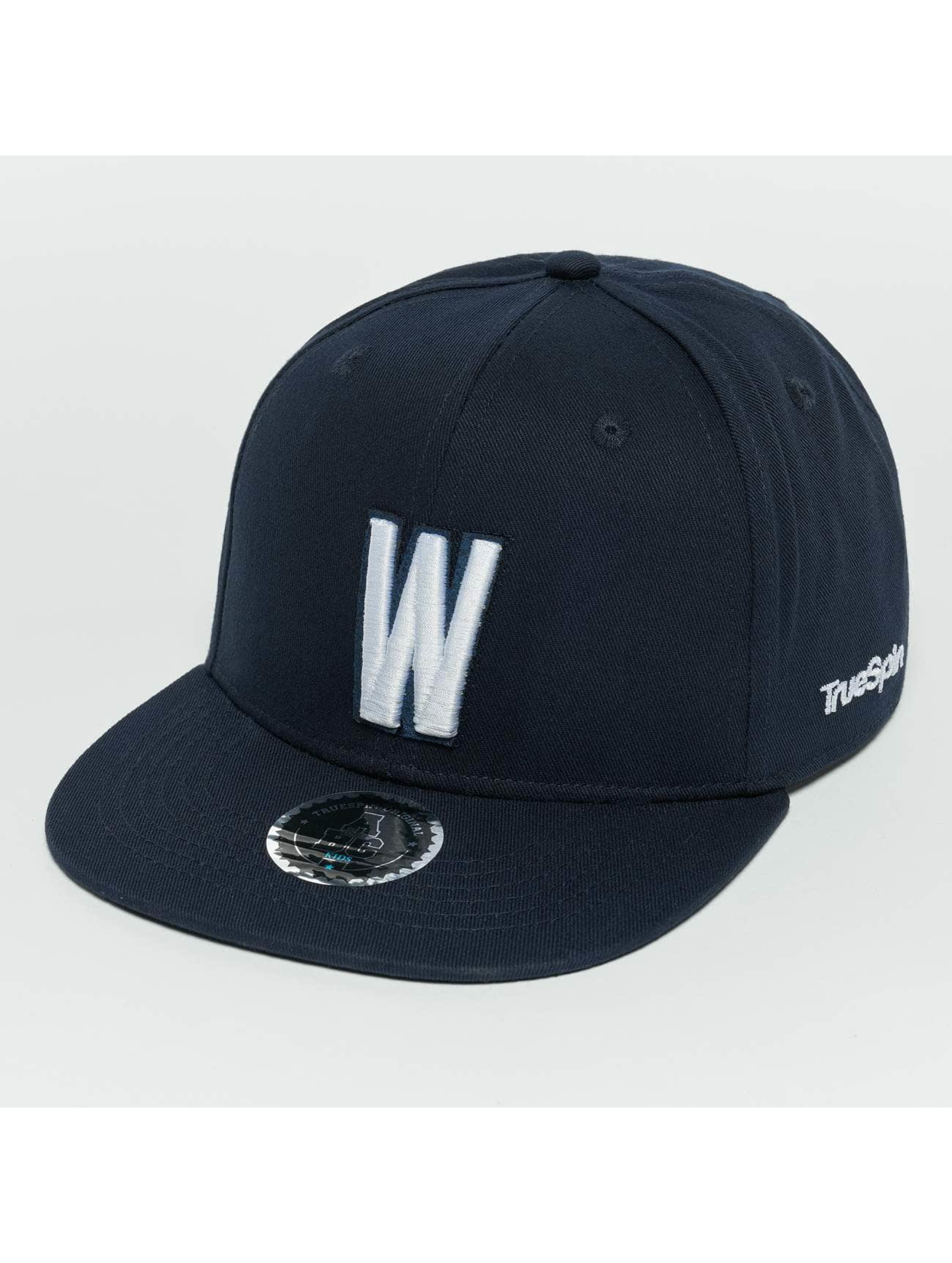 TrueSpin snapback cap Kids ABC W blauw