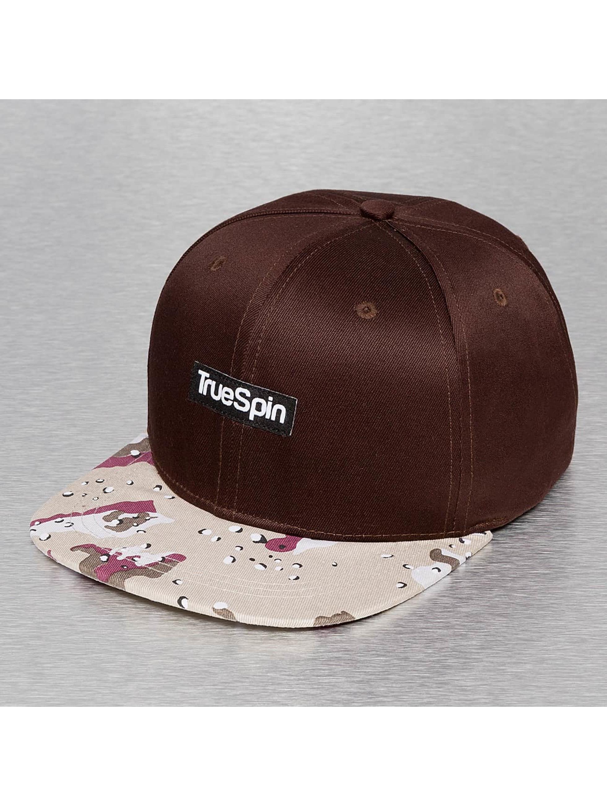 TrueSpin snapback cap Desert bruin