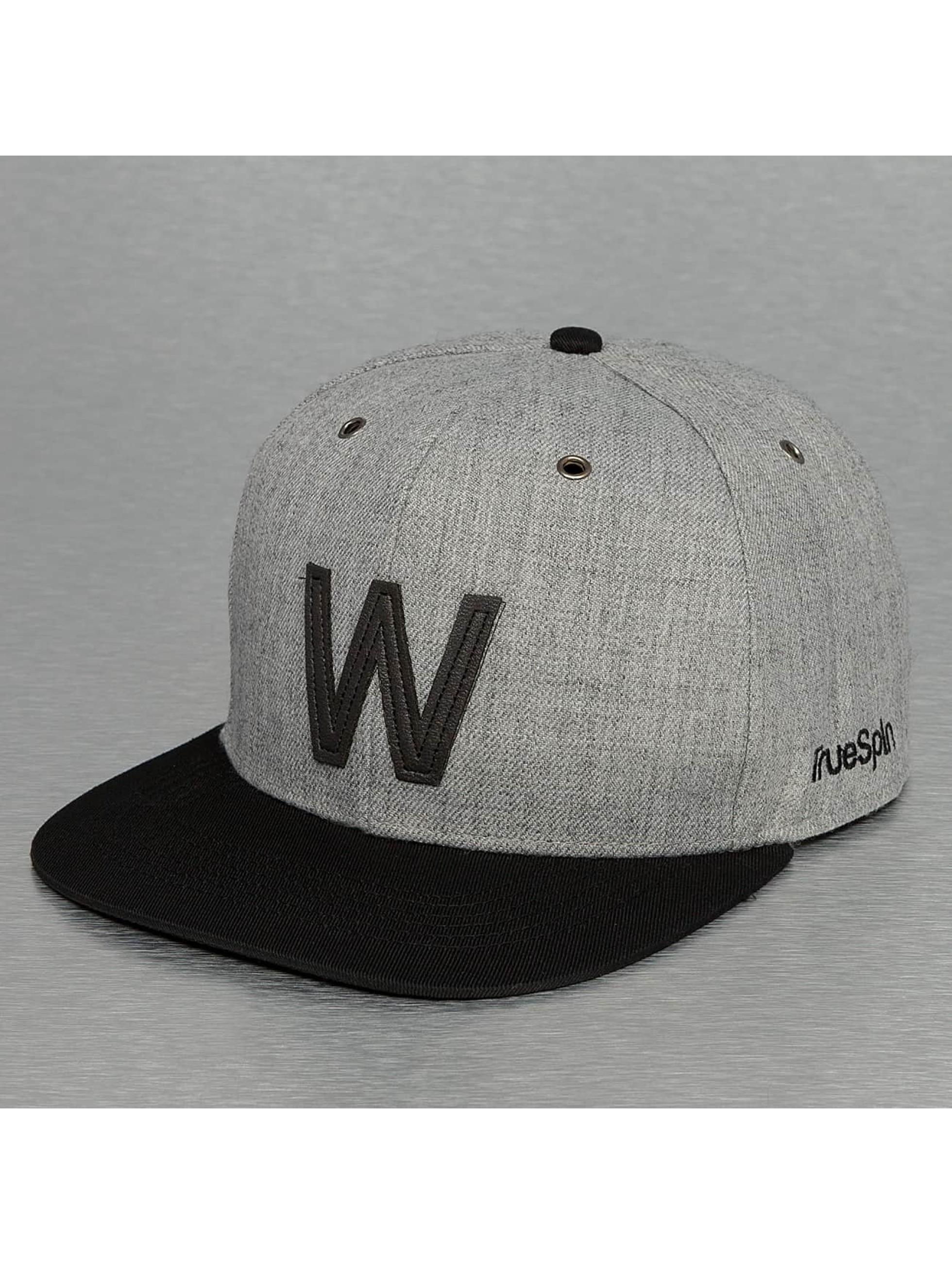 TrueSpin snapback cap ABC-W Wool grijs