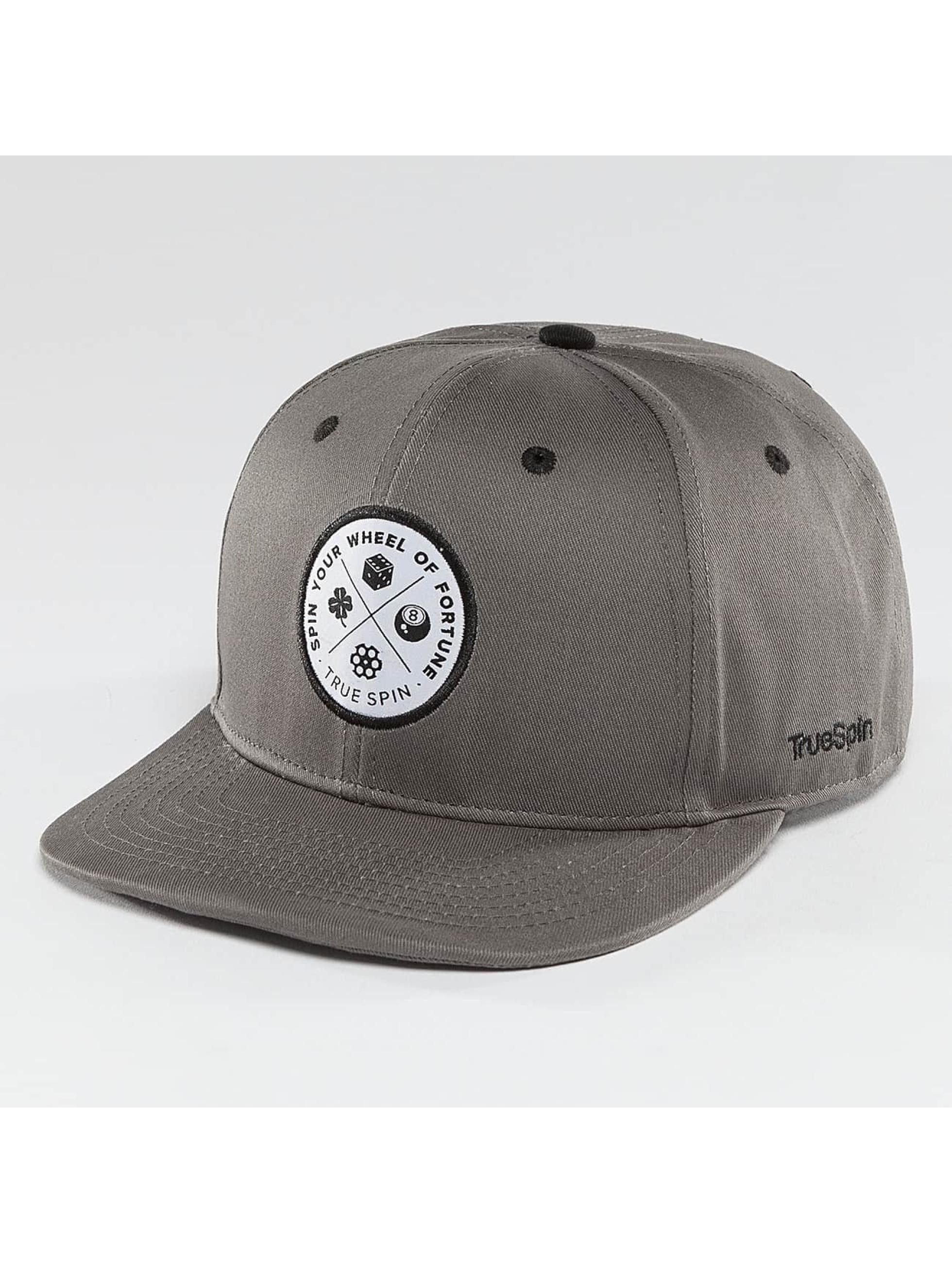 TrueSpin snapback cap Luck grijs