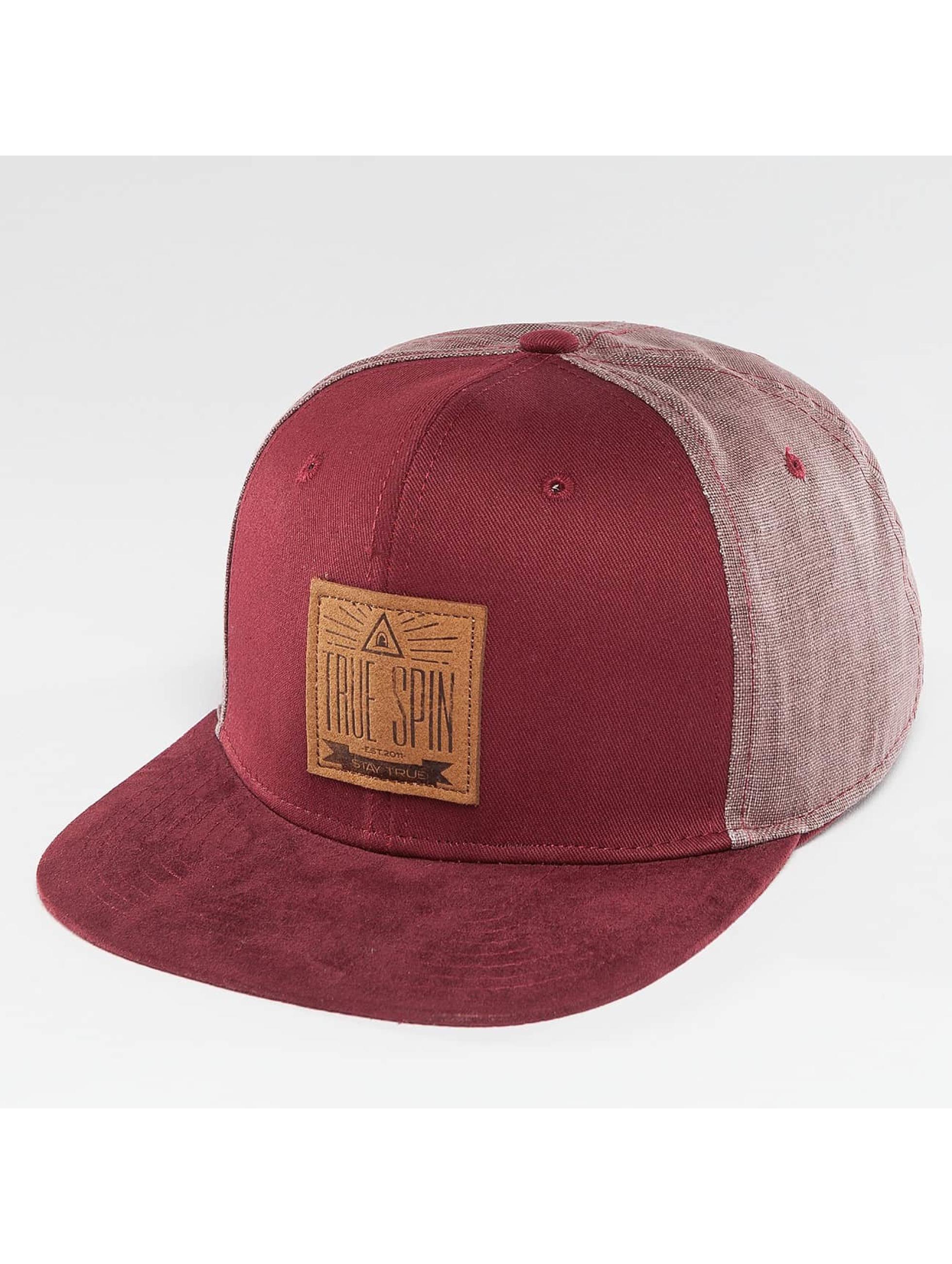 TrueSpin snapback cap New Velevet rood