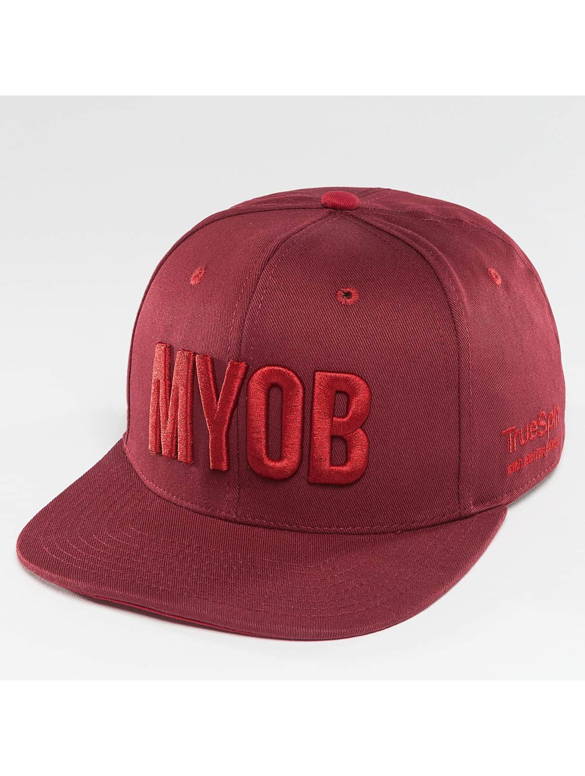 TrueSpin Snapback Cap Shorty MYOB rosso