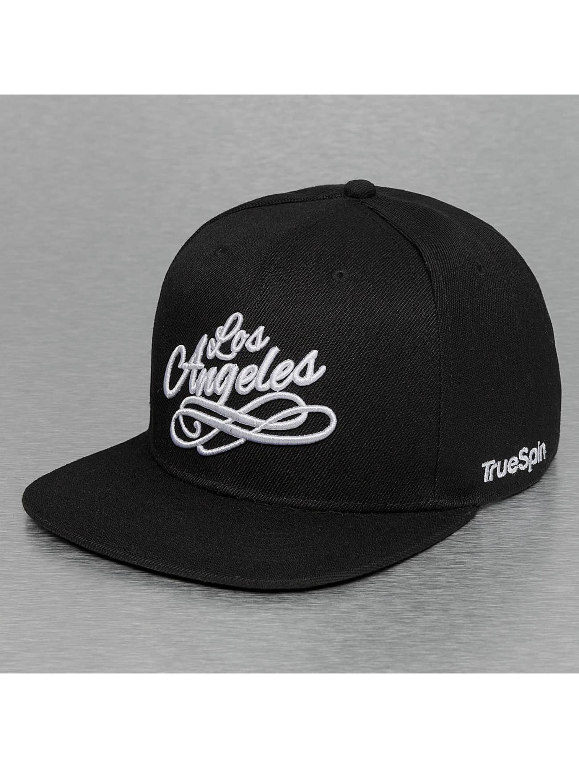 TrueSpin Snapback Cap Los Angeles City schwarz