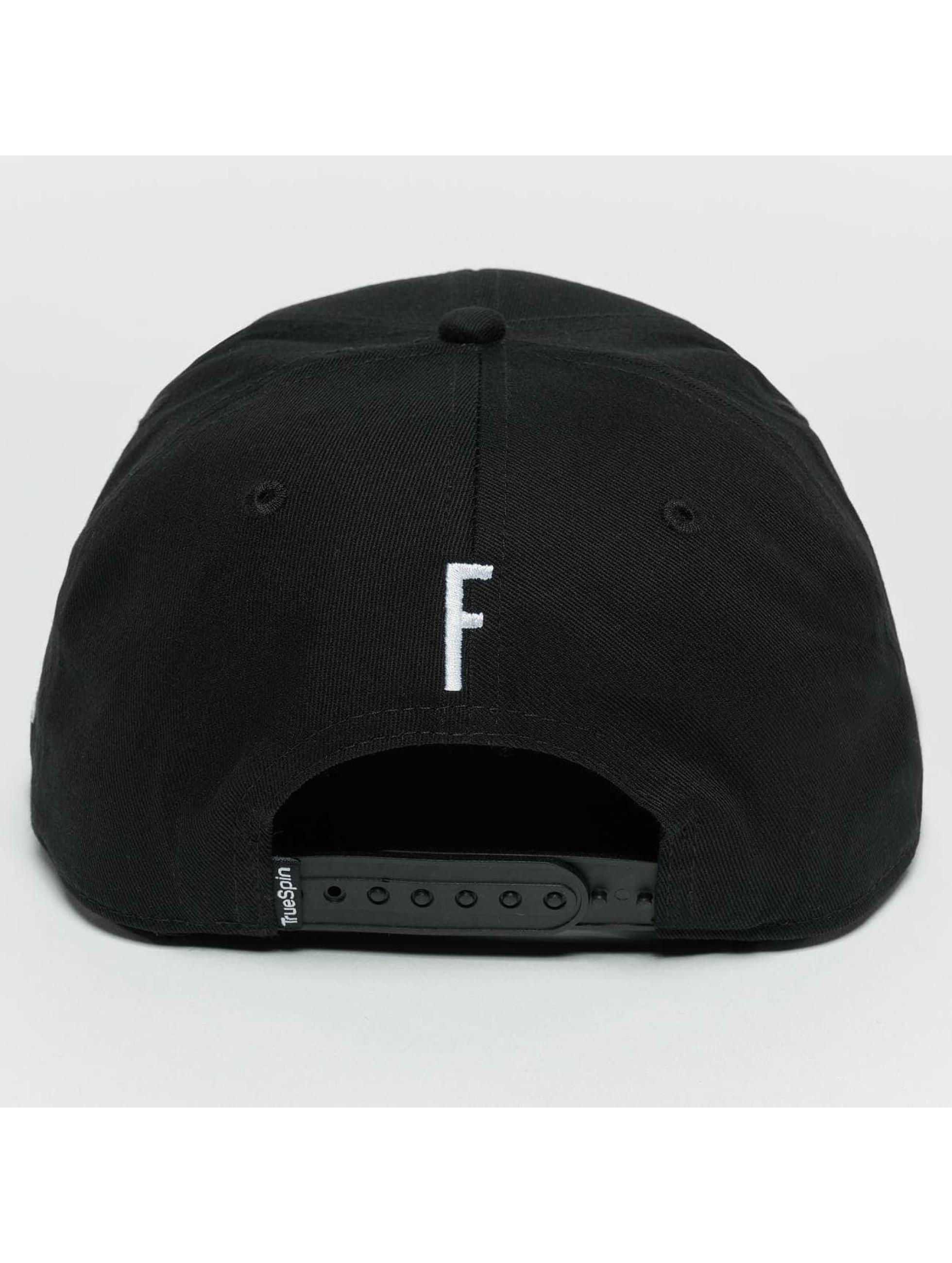 TrueSpin snapback cap ABC F zwart