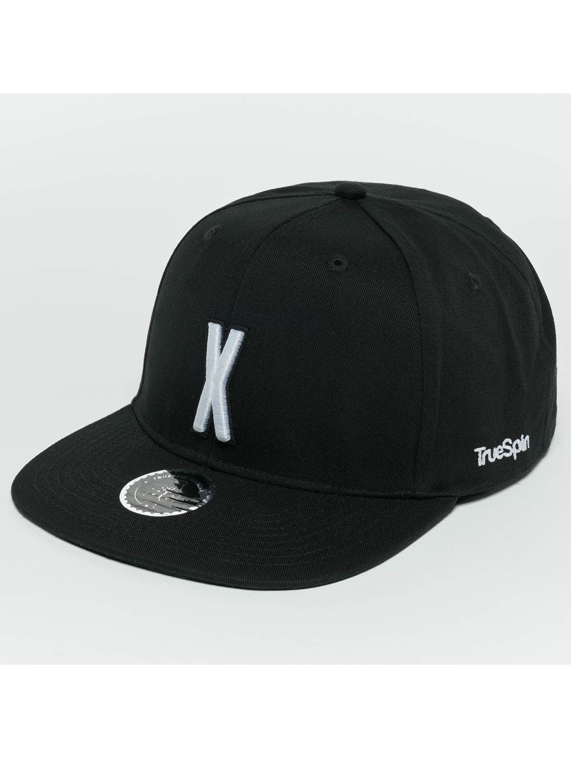 TrueSpin snapback cap ABC X zwart