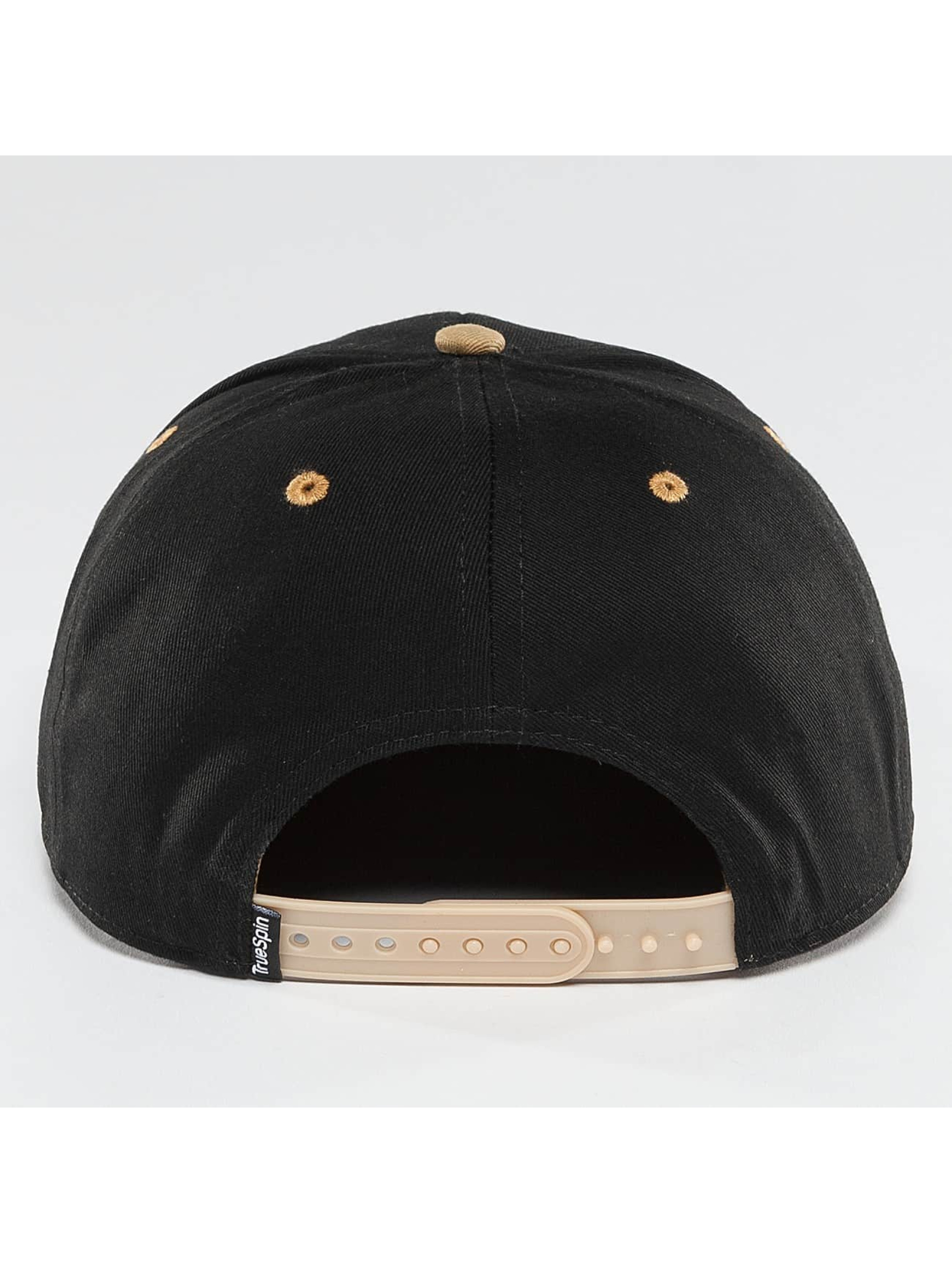 TrueSpin Snapback Caps 4 Letters čern