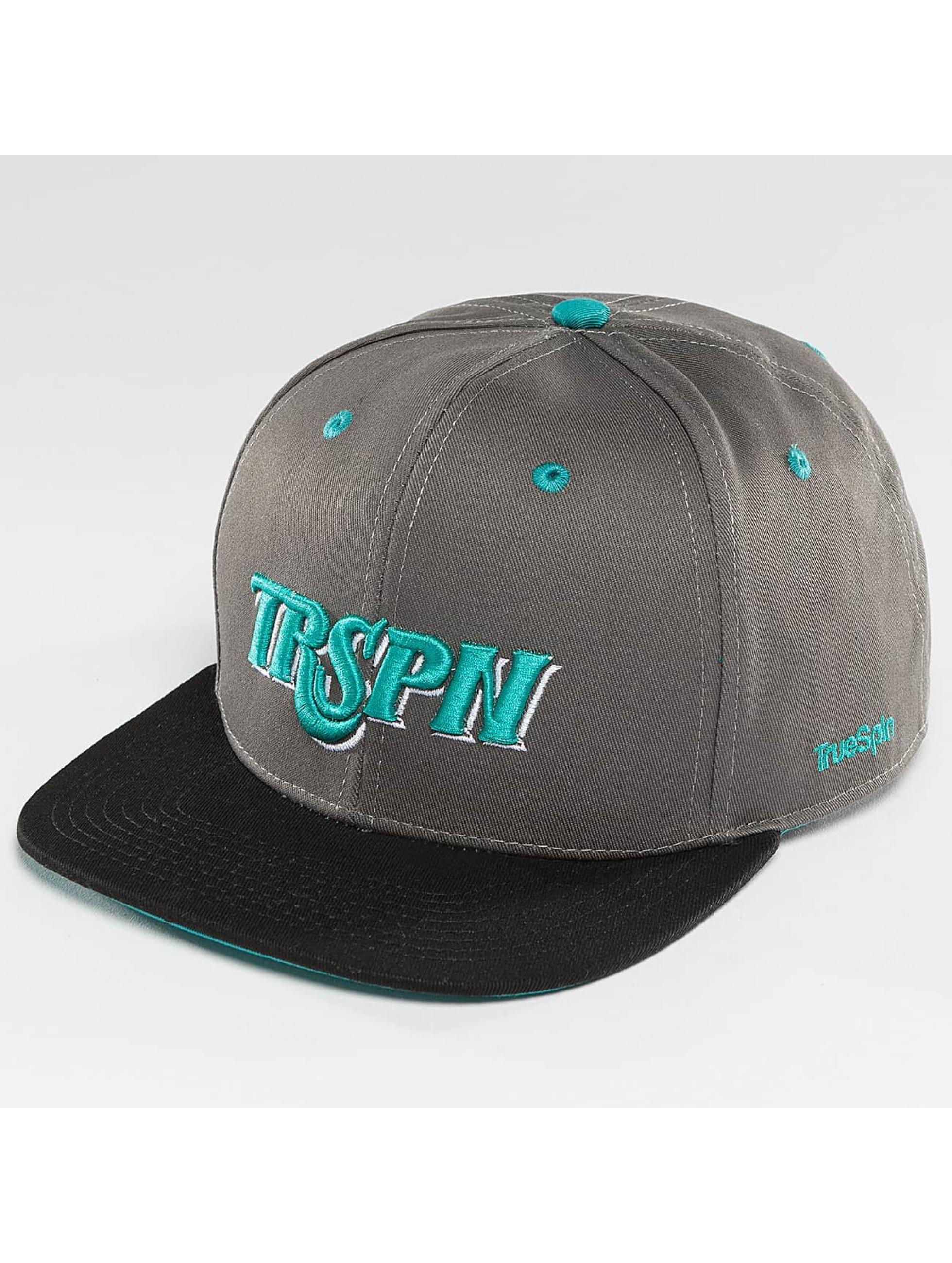 TrueSpin Snapback Caps Team TRSPN šedá