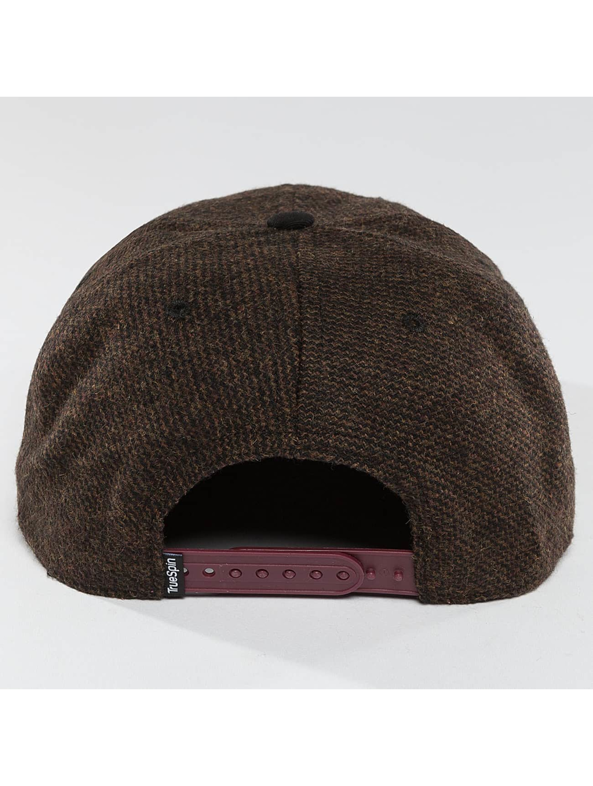 TrueSpin Snapback Caps Chevron brazowy