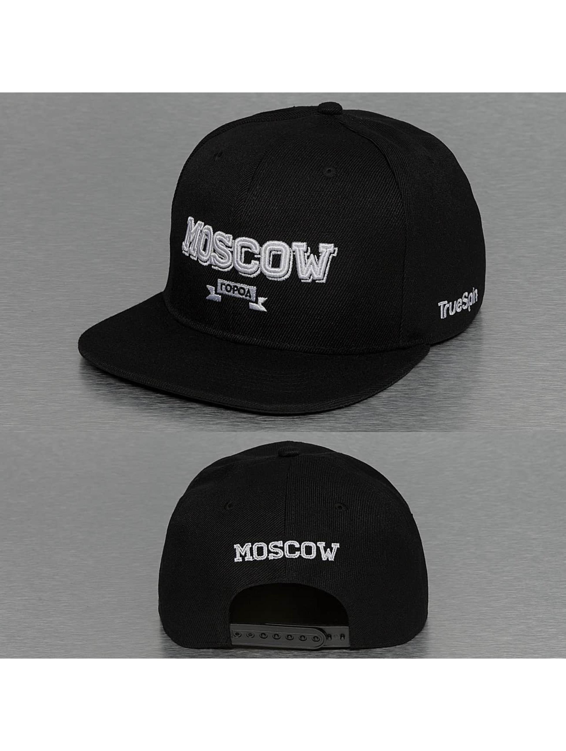 TrueSpin Snapback Caps Moscow City czarny