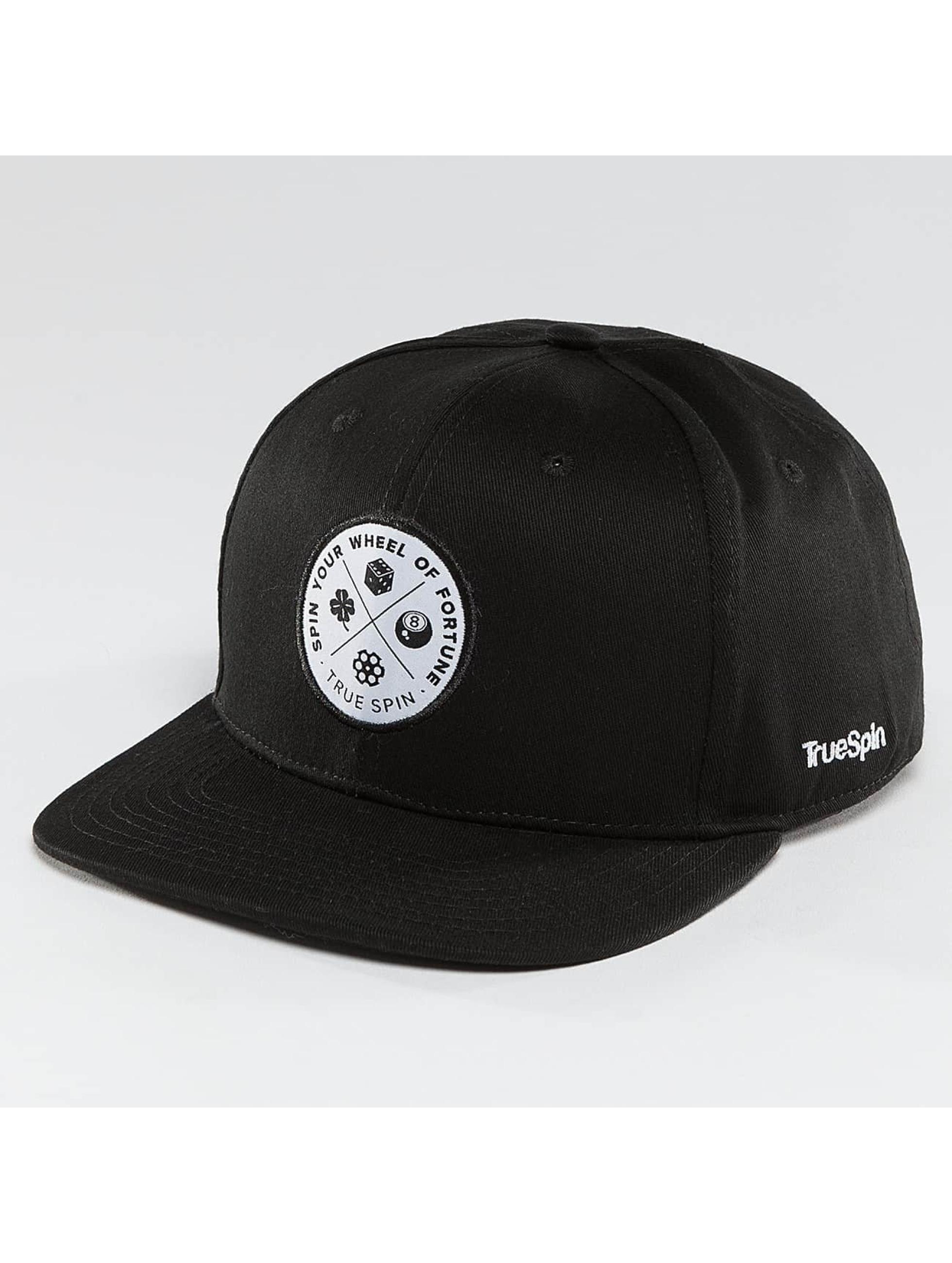 TrueSpin Snapback Caps Luck czarny