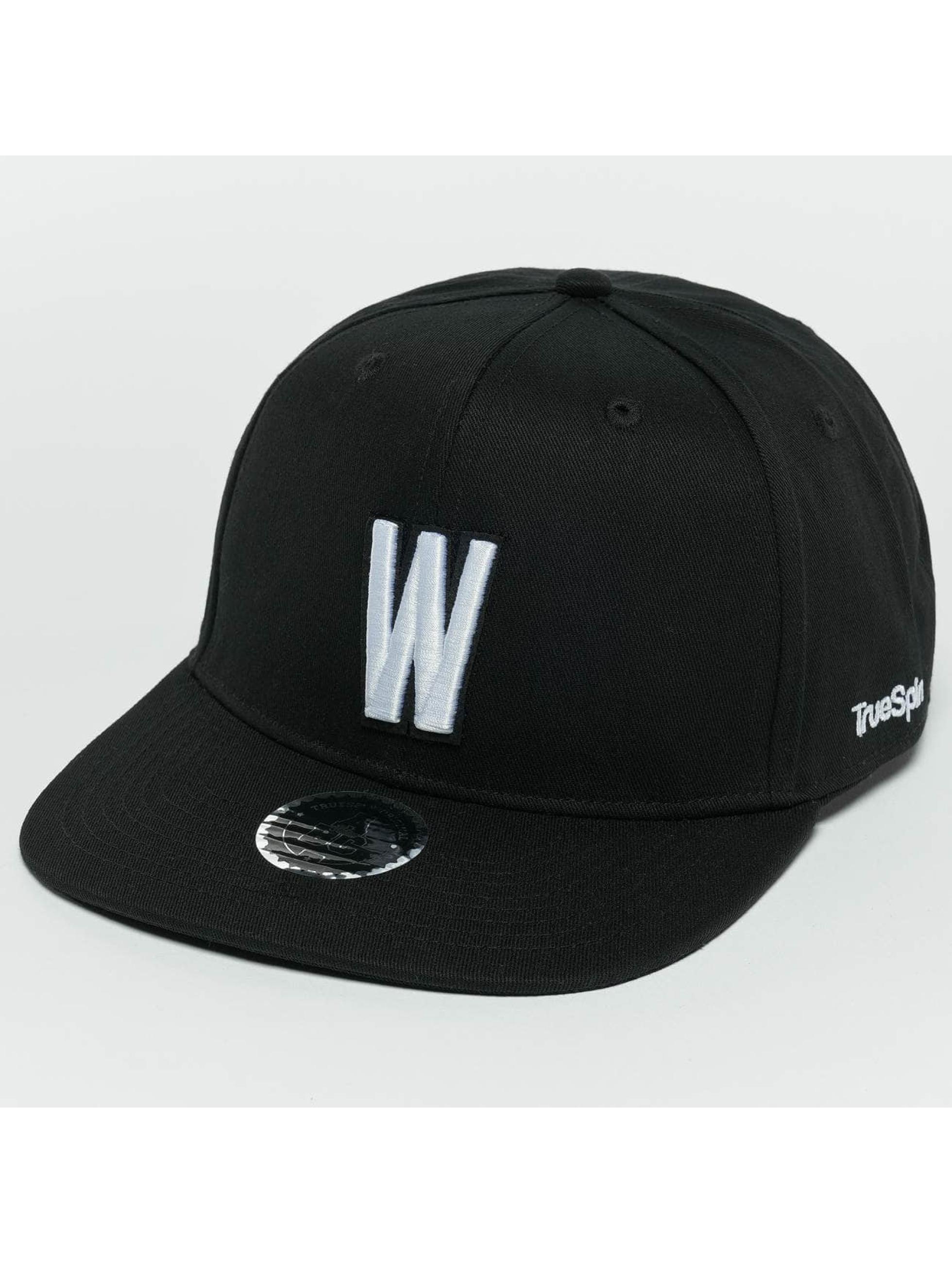 TrueSpin Snapback Caps ABC W czarny