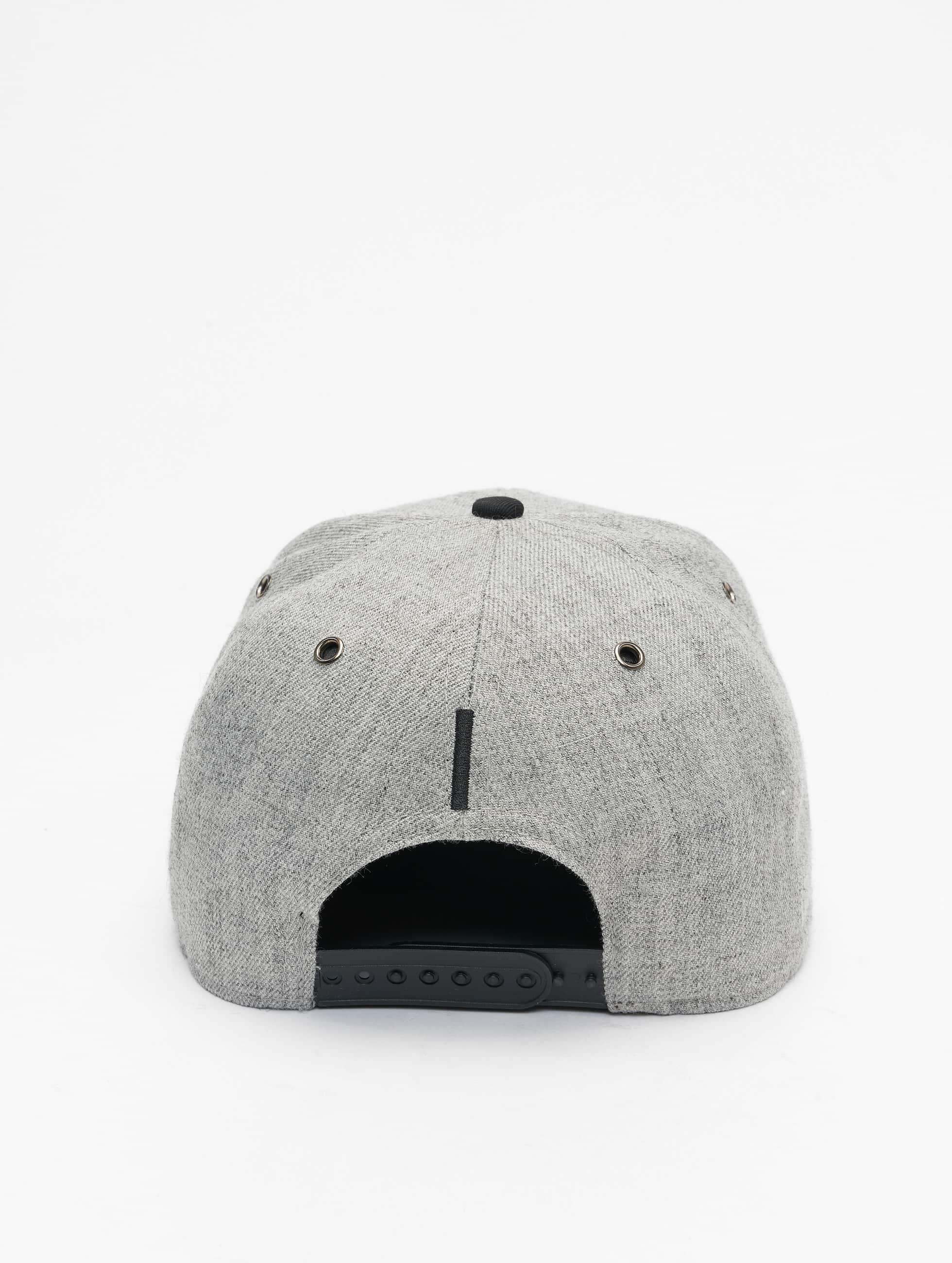 TrueSpin Snapback Caps ABC-I Wool grå