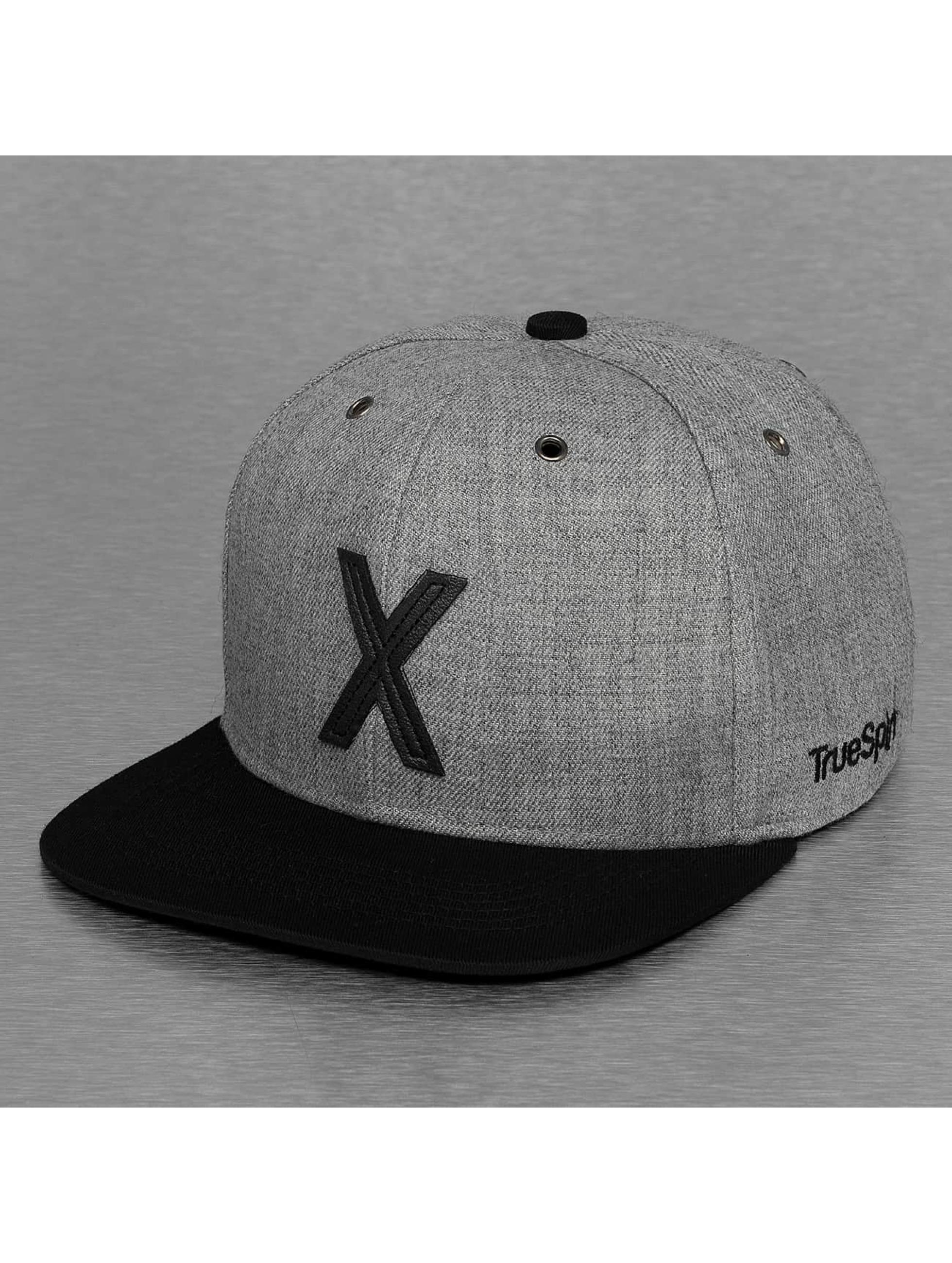 TrueSpin Snapback Caps ABC-X Wool grå