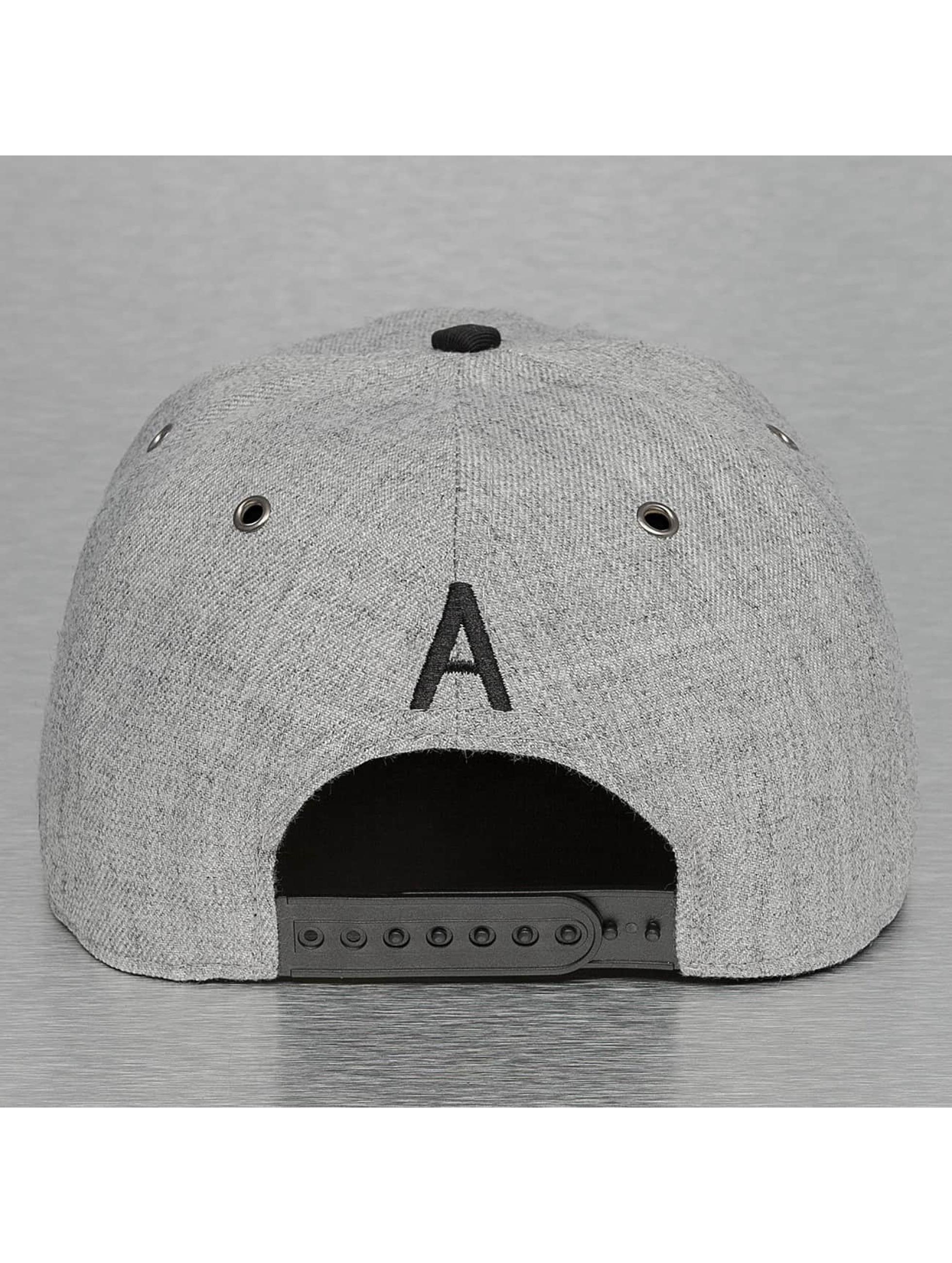 TrueSpin Snapback Caps ABC-A Wool harmaa