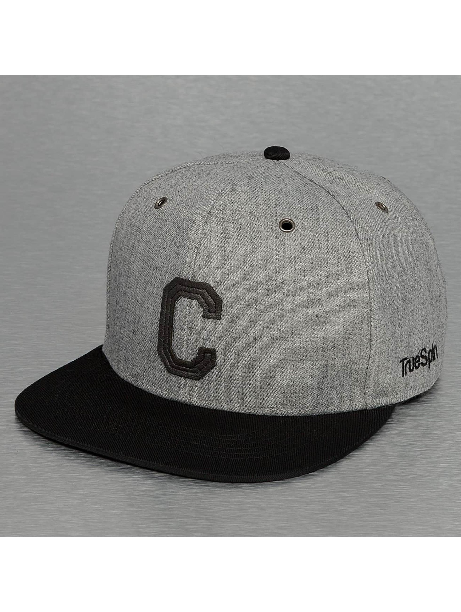 TrueSpin Snapback Caps ABC-C Wool harmaa
