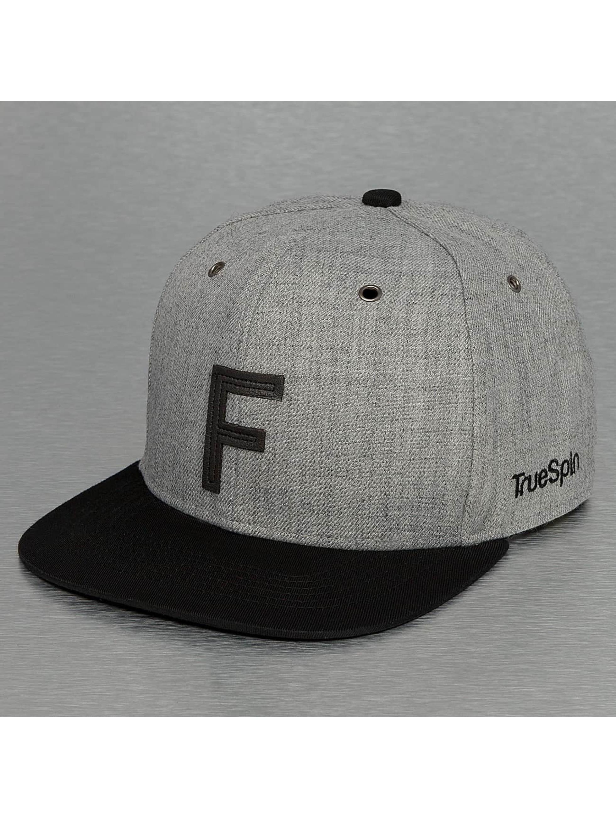 TrueSpin Snapback Caps ABC-F Wool harmaa