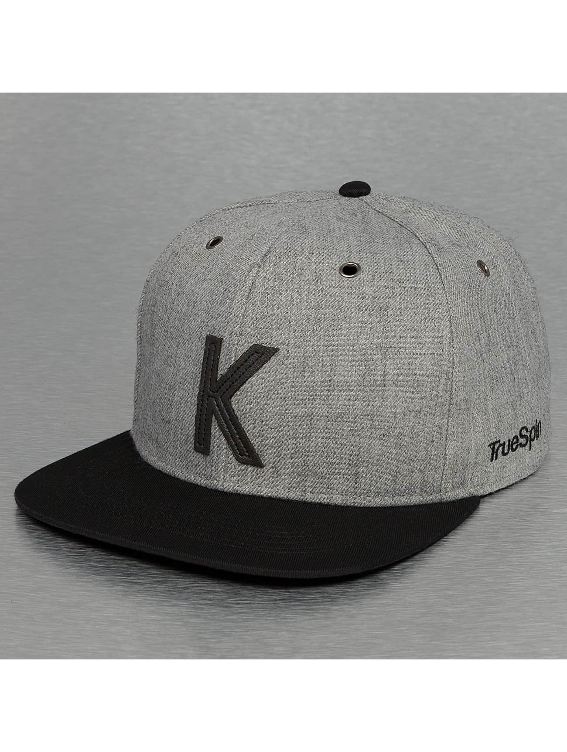 TrueSpin Snapback Caps ABC-K Wool harmaa