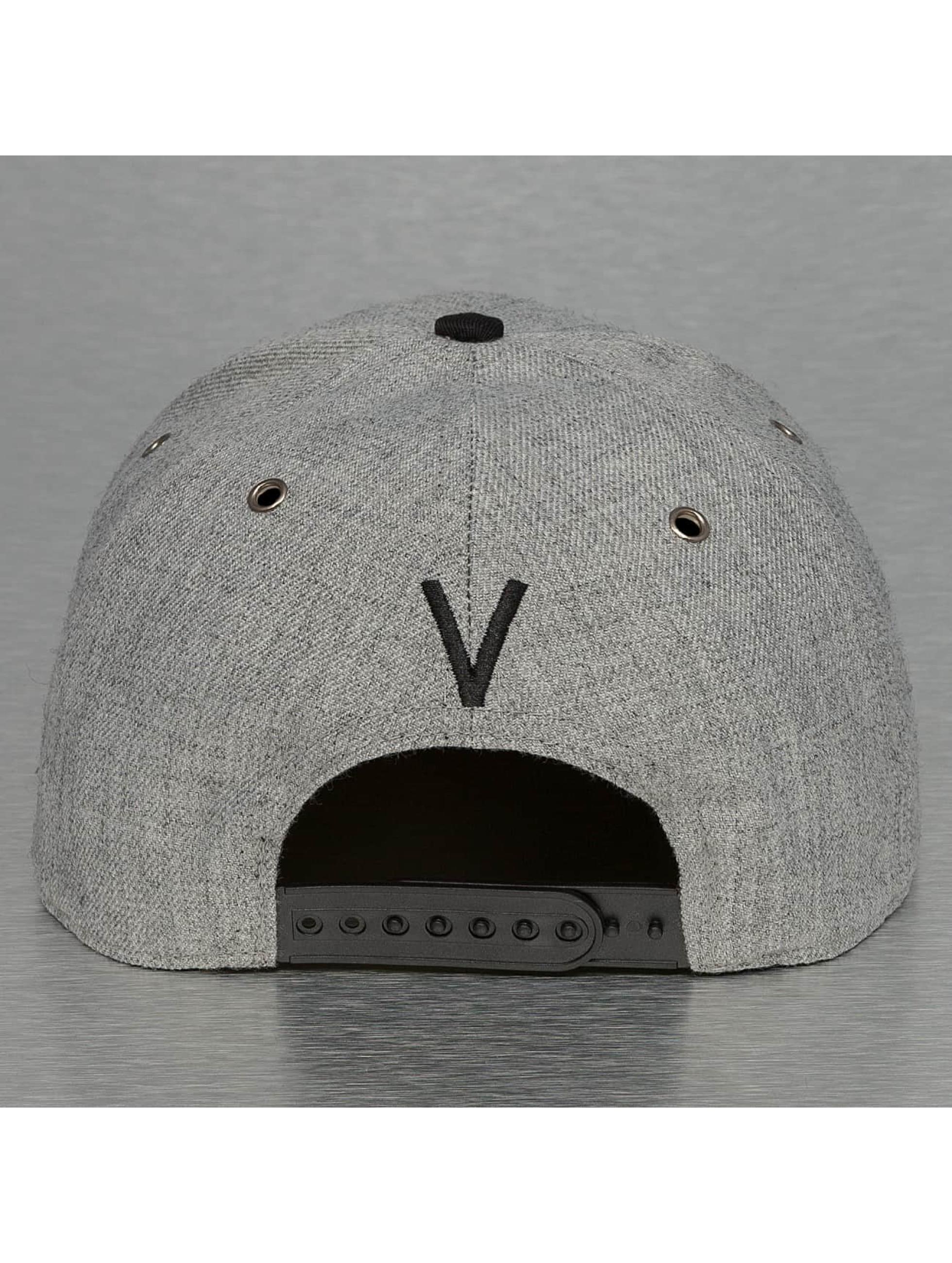 TrueSpin Snapback Caps ABC-V Wool harmaa