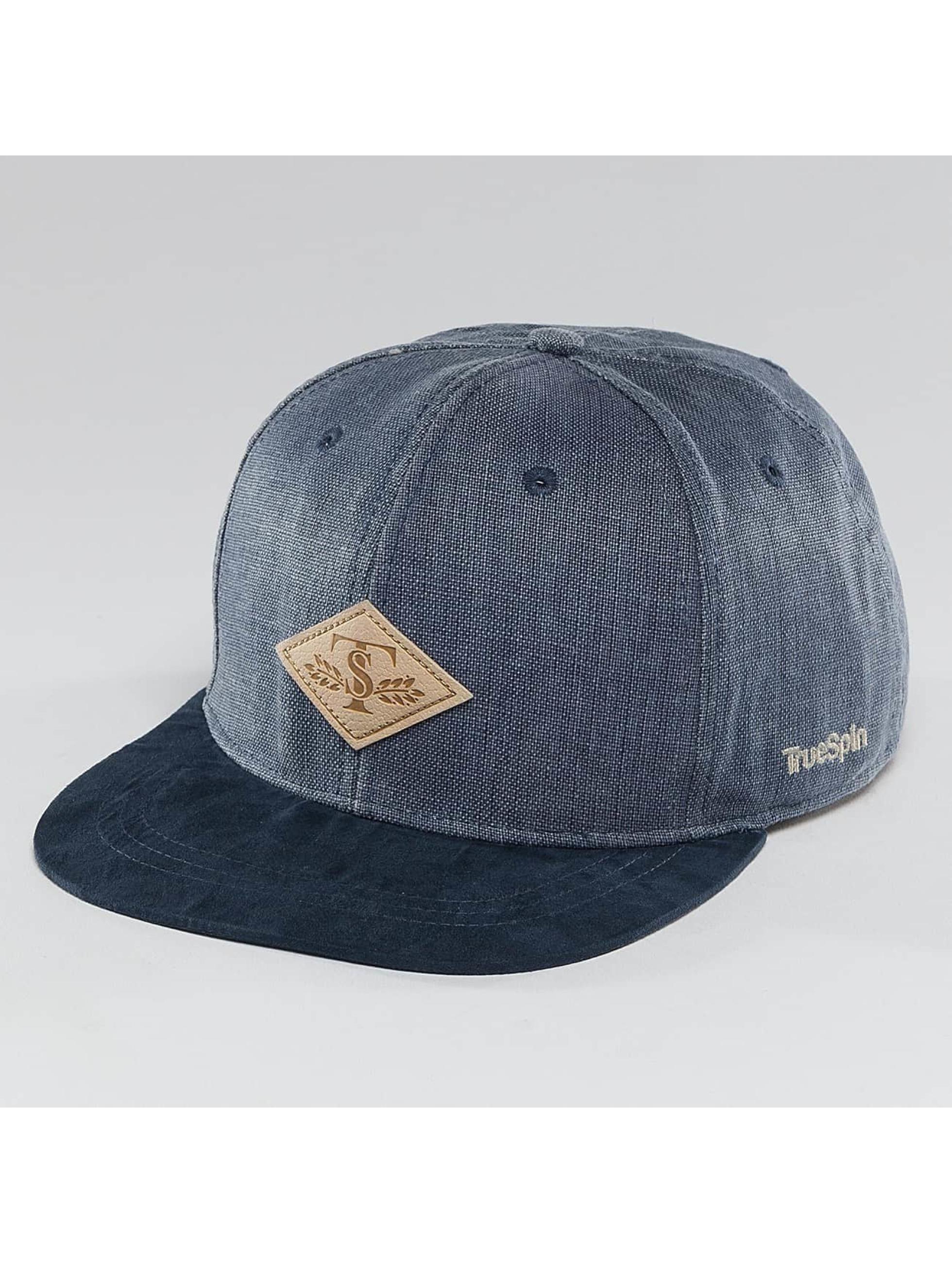 TrueSpin Snapback Caps Laurel modrý