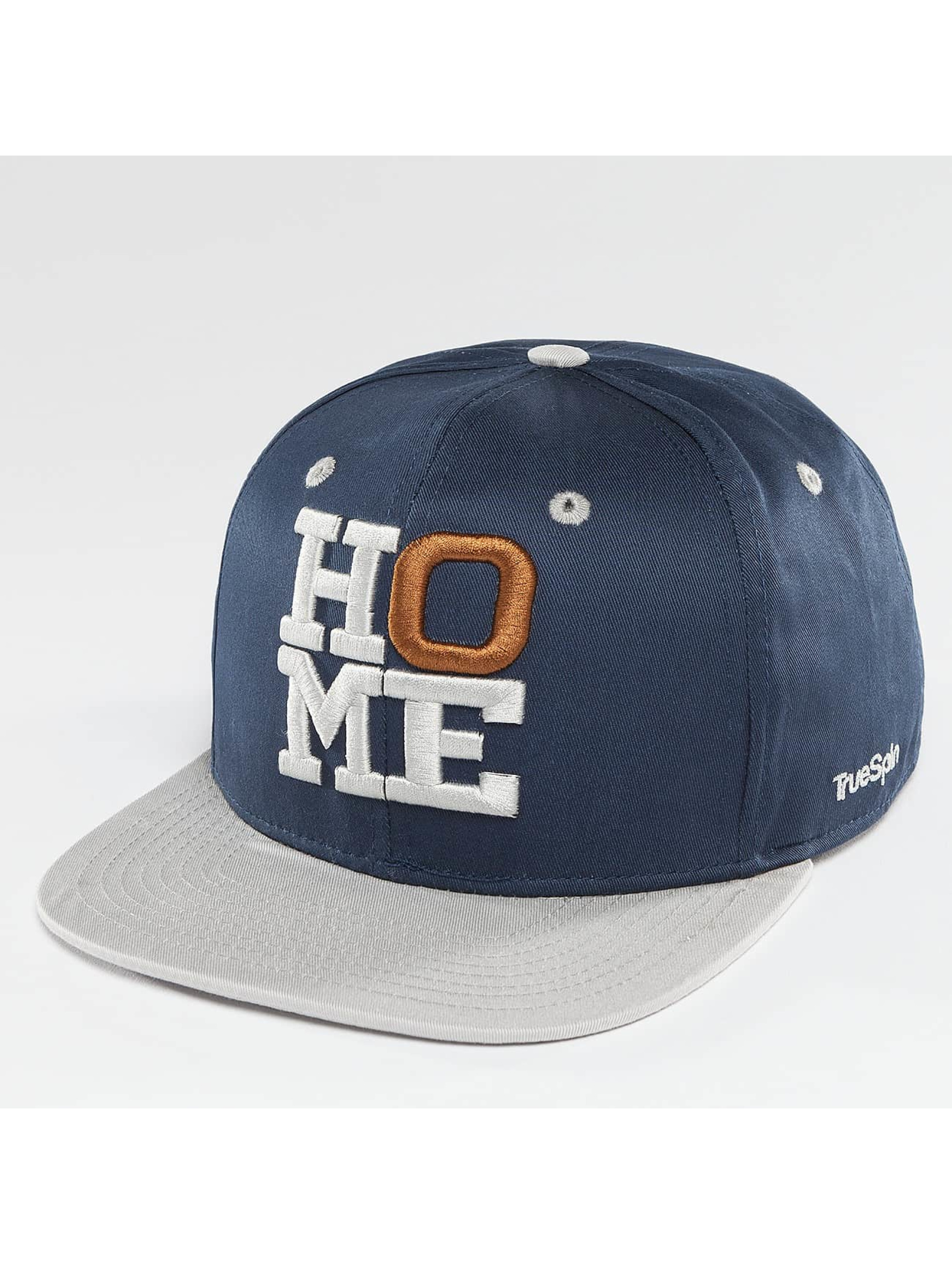 TrueSpin Snapback Caps 4 Letters Home modrý