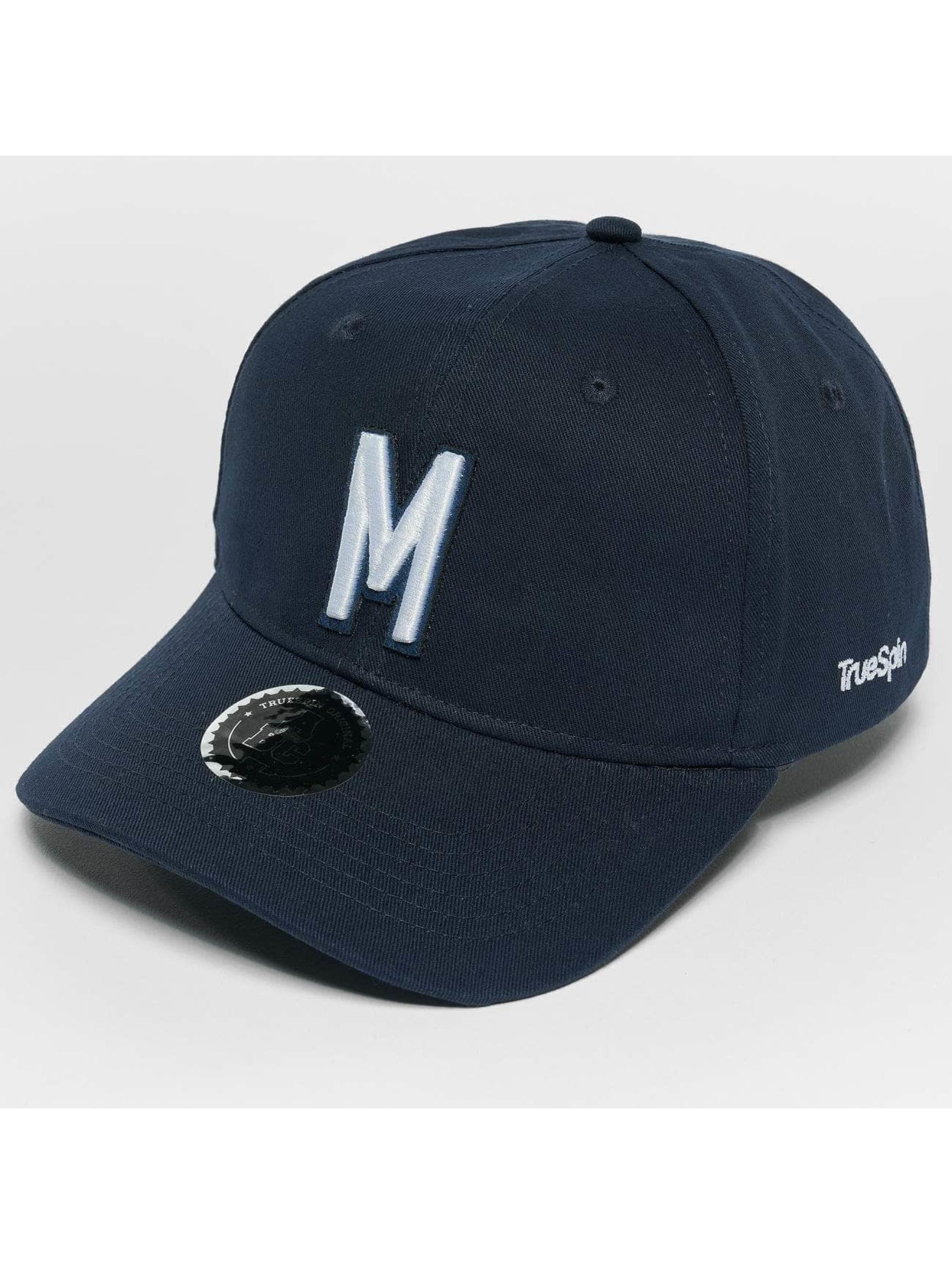 TrueSpin Snapback Caps ABC M modrý