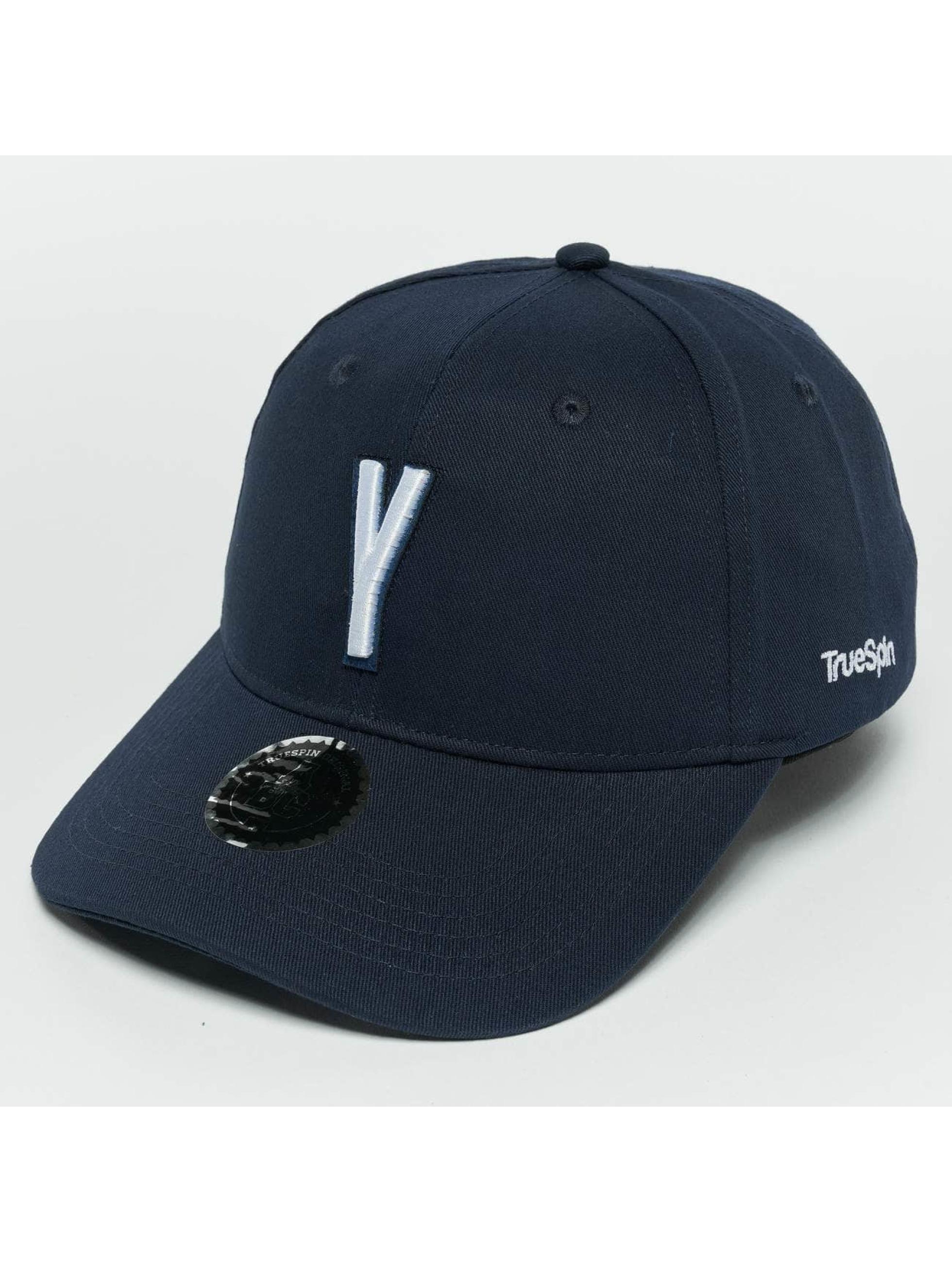 TrueSpin Snapback Caps ABC Y modrý