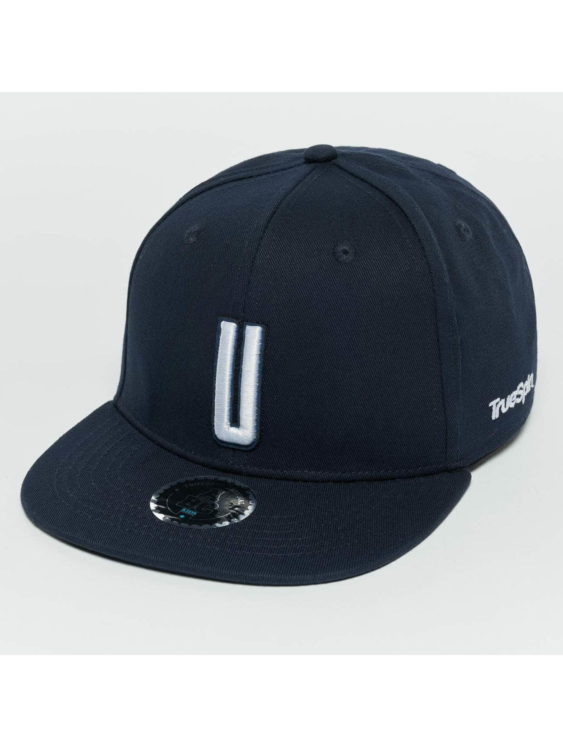 TrueSpin Snapback Caps Kids ABC U modrý