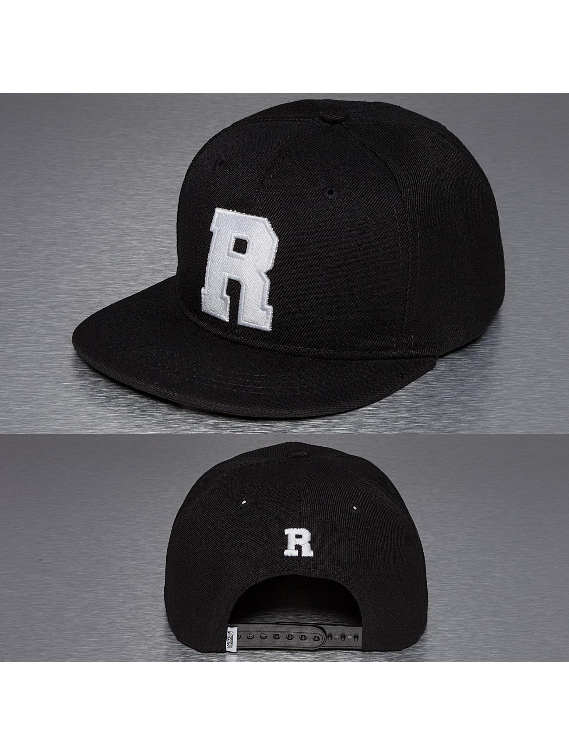 TrueSpin Snapback Caps R-ABC musta