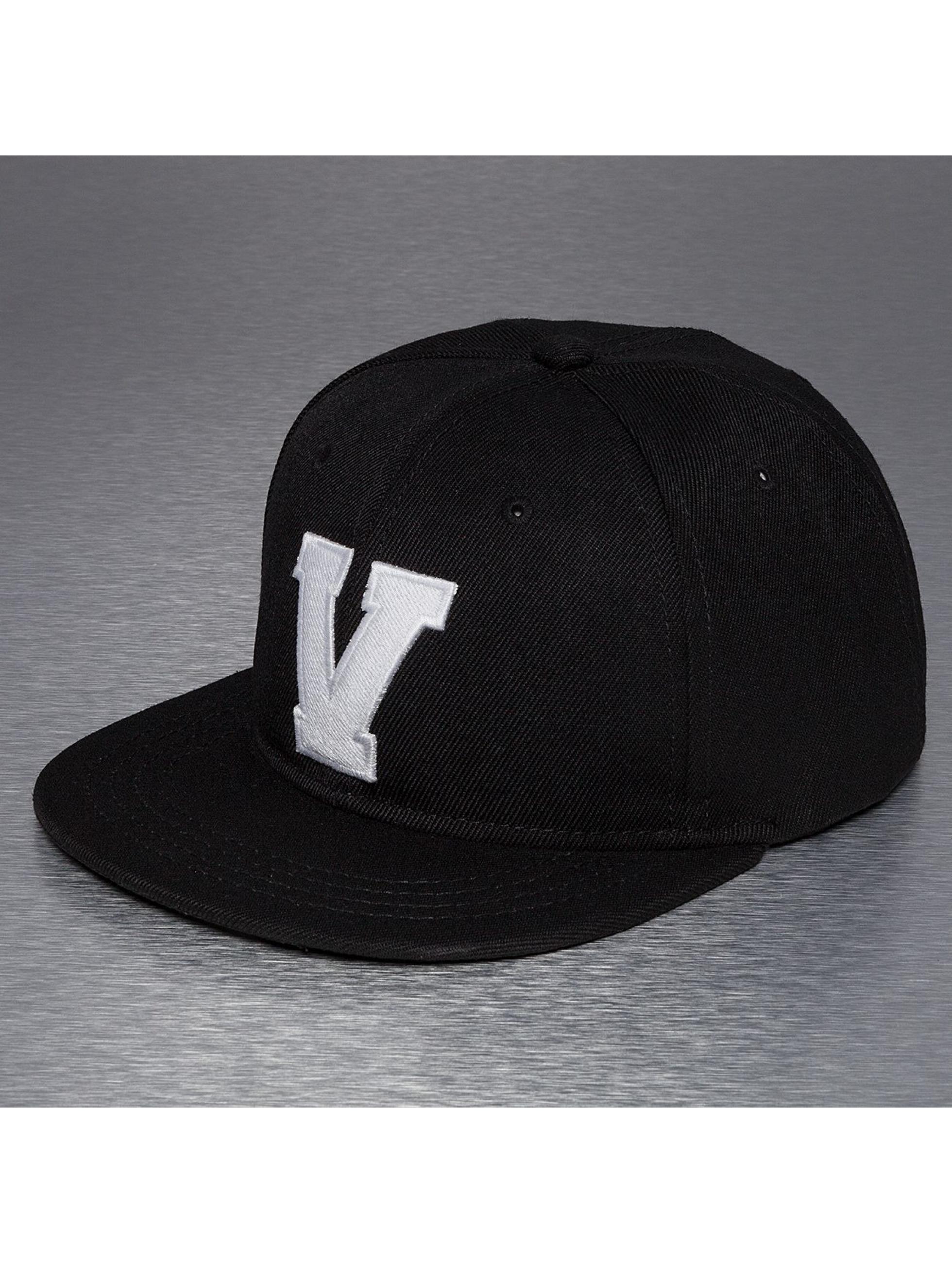 TrueSpin Snapback Caps V-ABC musta