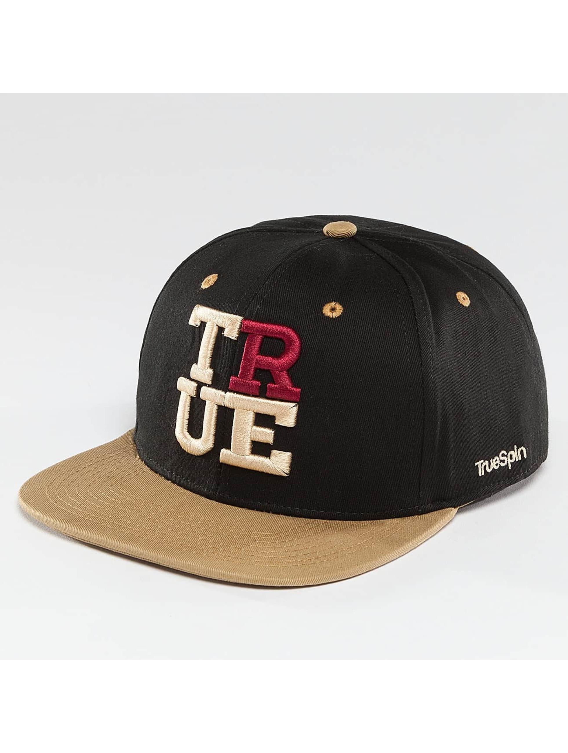 TrueSpin Snapback Caps 4 Letters musta