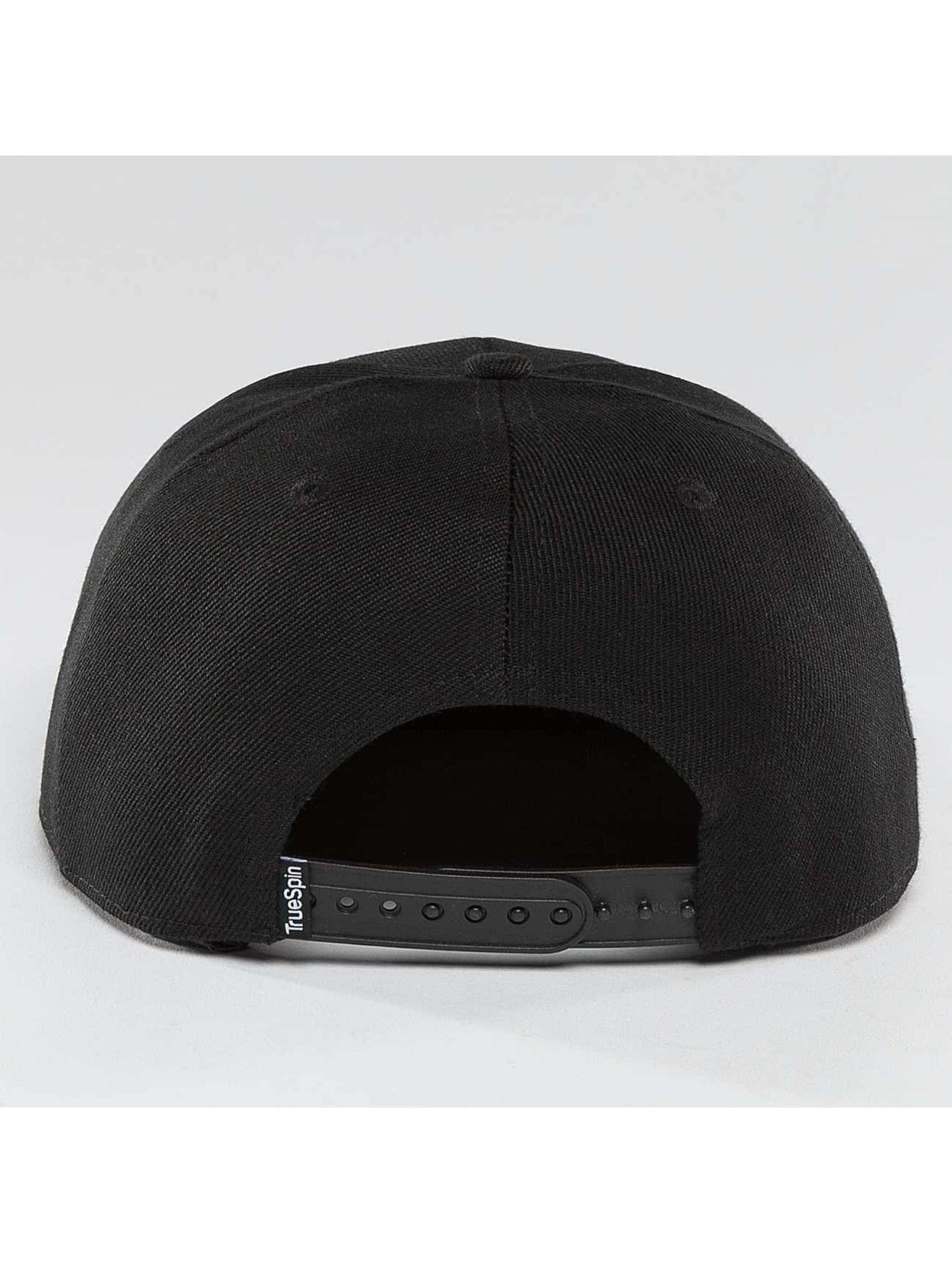 TrueSpin Snapback Caps Blank musta