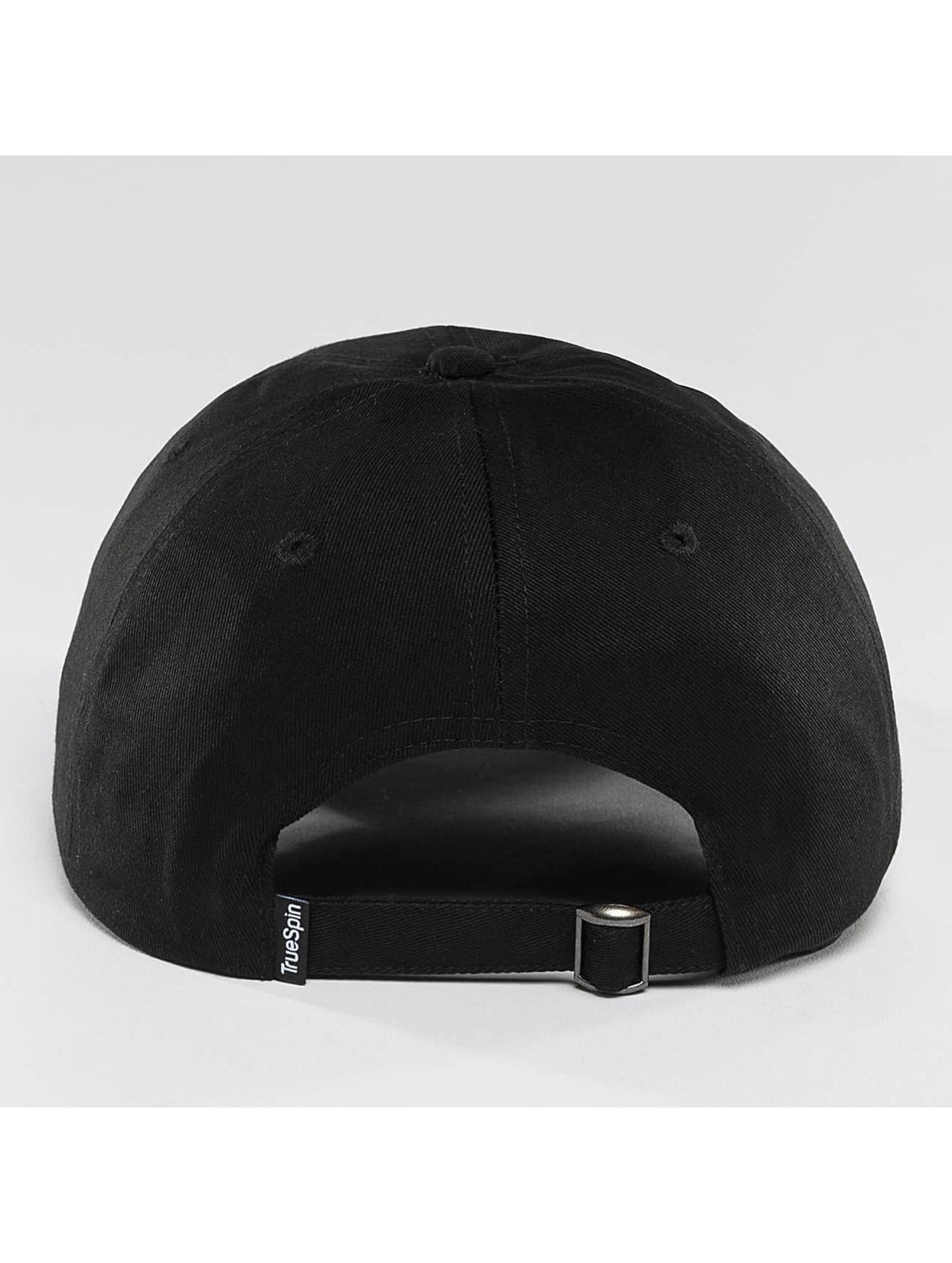 TrueSpin Snapback Caps Blank Round Visor musta