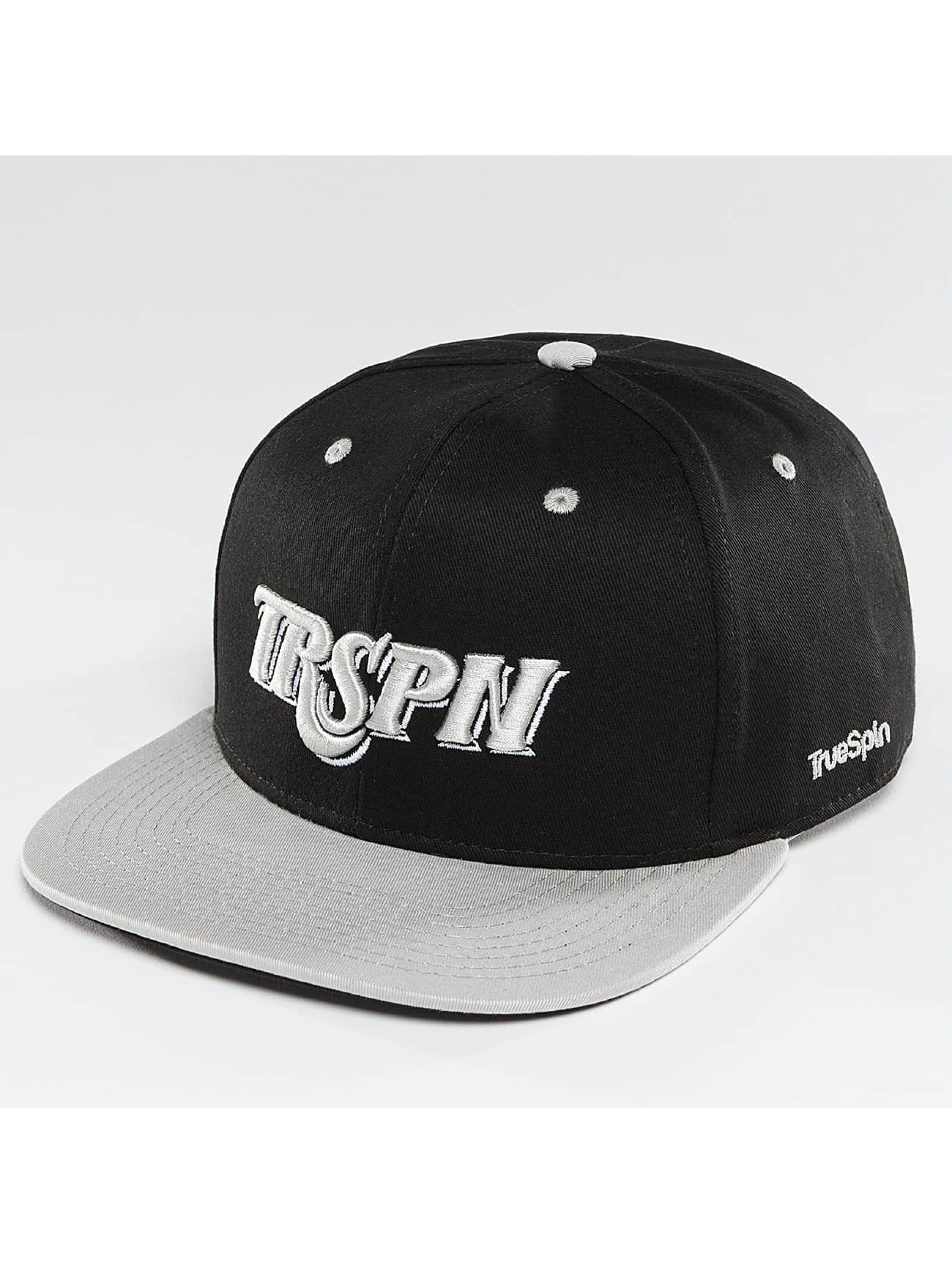 TrueSpin Snapback Caps Team TRSPN musta