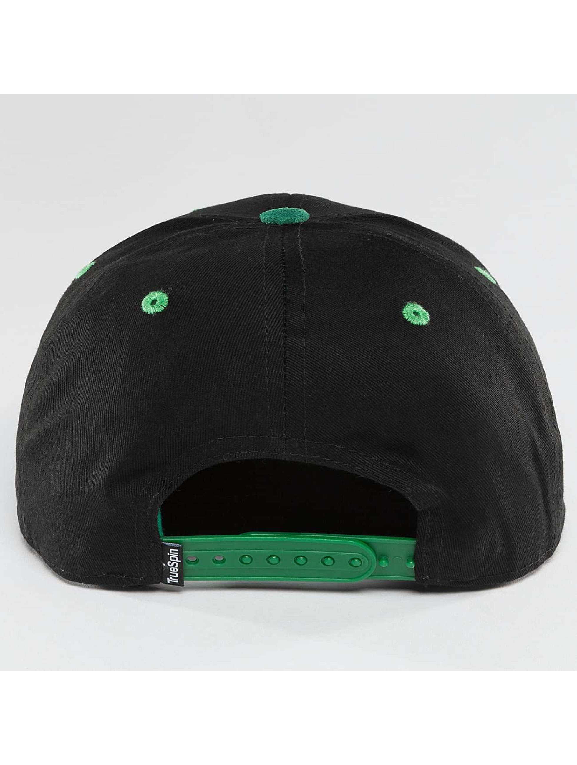 TrueSpin Snapback Caps 2 Tone musta