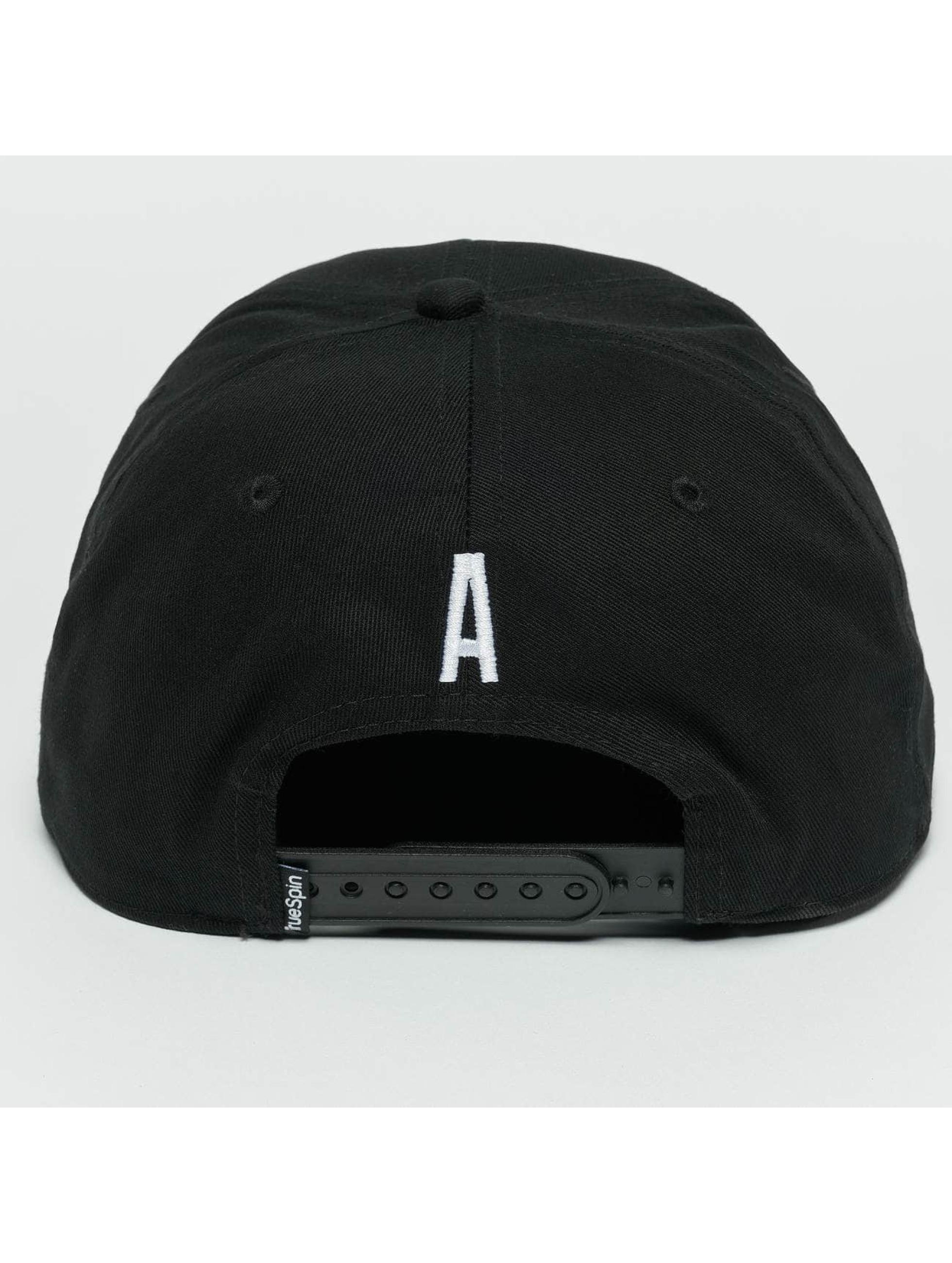 TrueSpin Snapback Caps ABC A musta