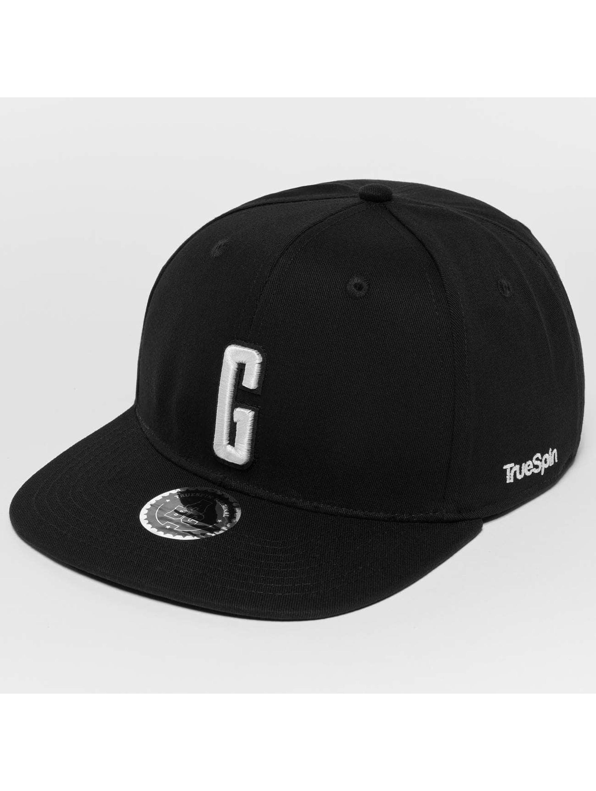 TrueSpin Snapback Caps ABC G musta
